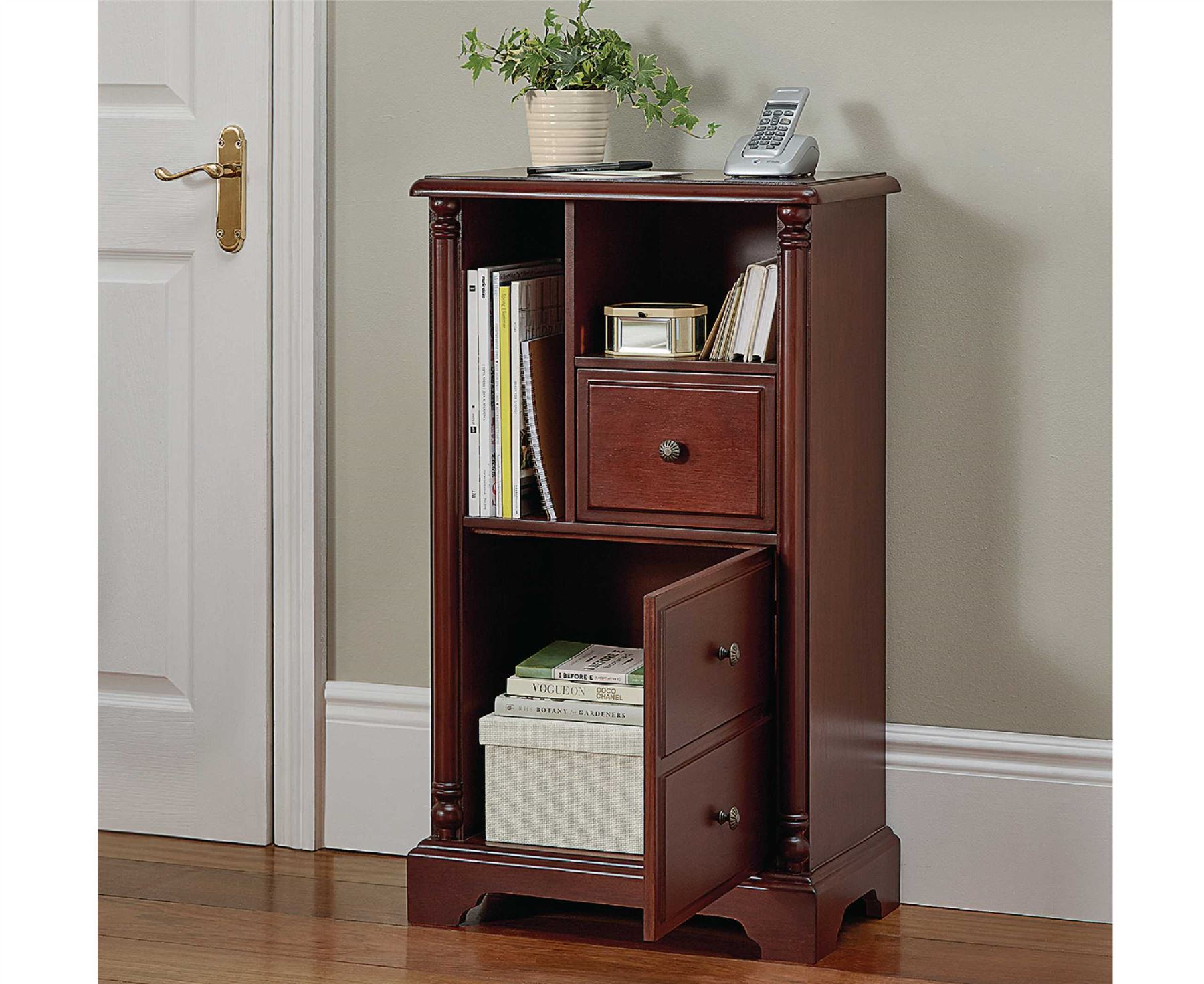 Telephone table cabinet stand living room hall furniture for Living hall furniture