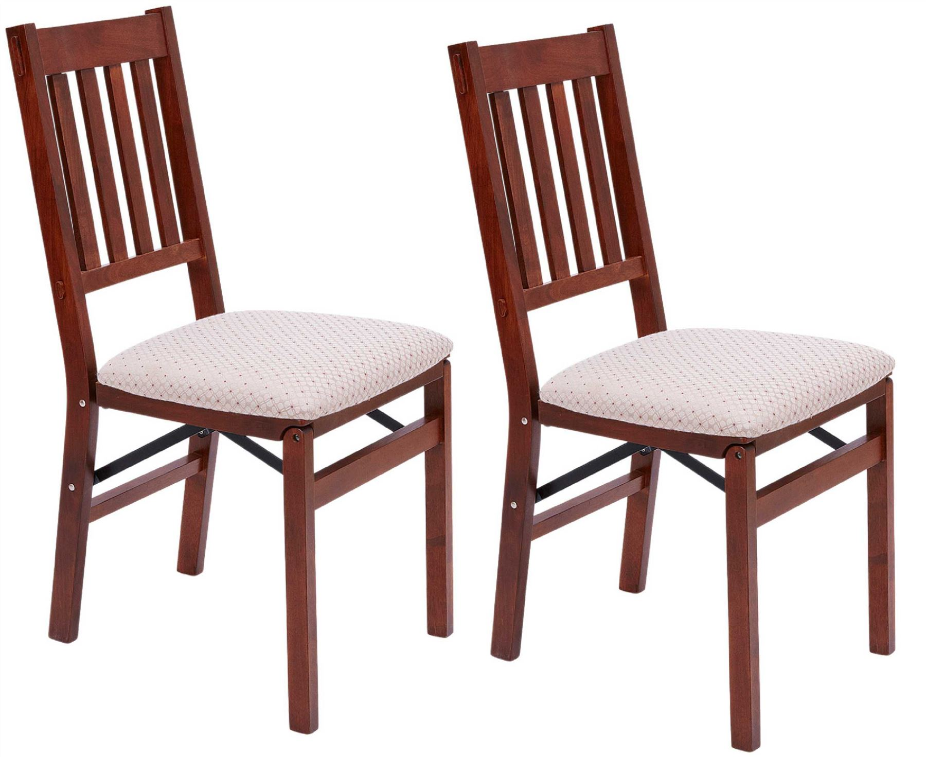 arts and crafts folding dining chairs 2x solid hardwood. Black Bedroom Furniture Sets. Home Design Ideas