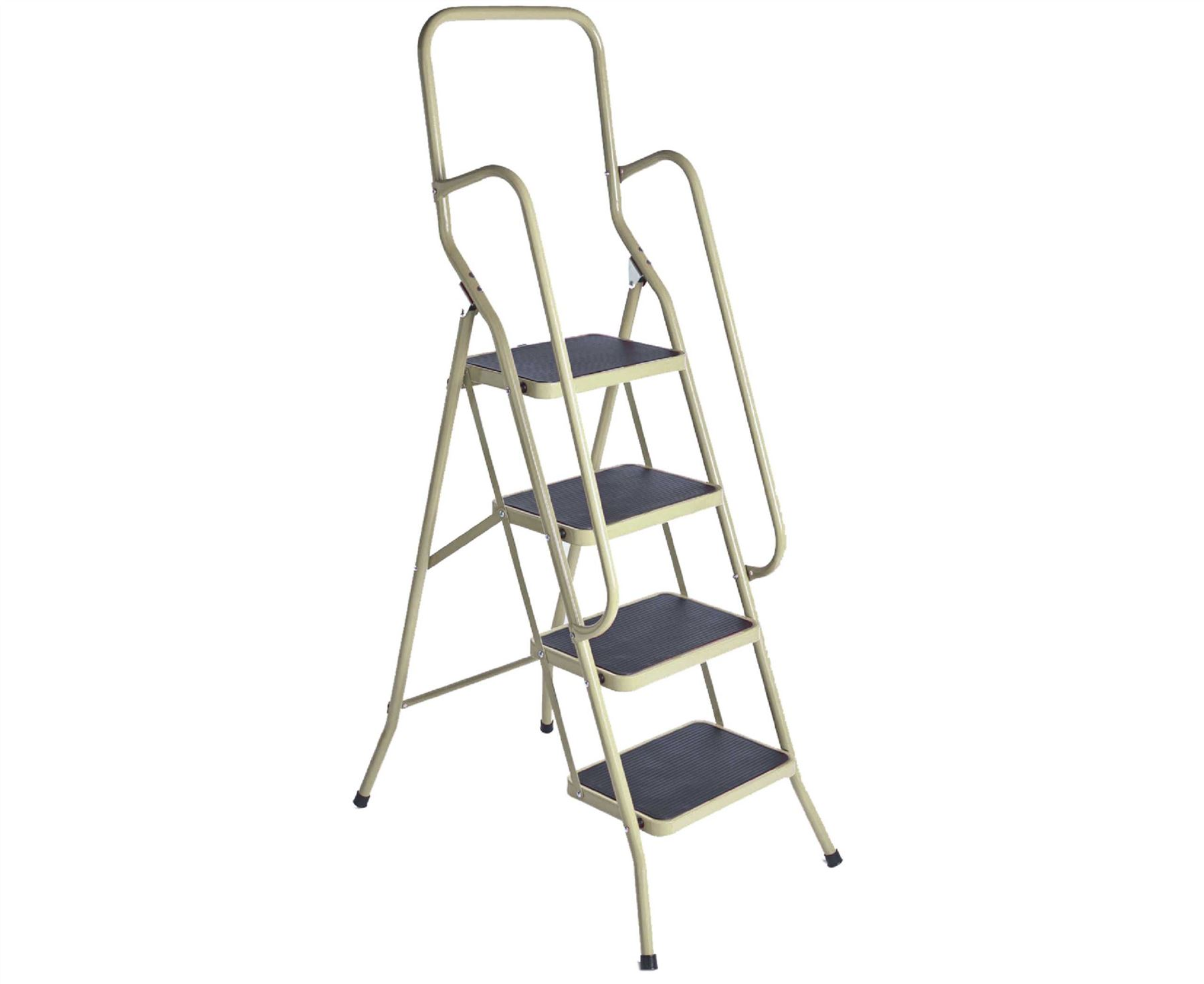 4 Step Safety Ladder Foldable Non Slip Tread Stepladder