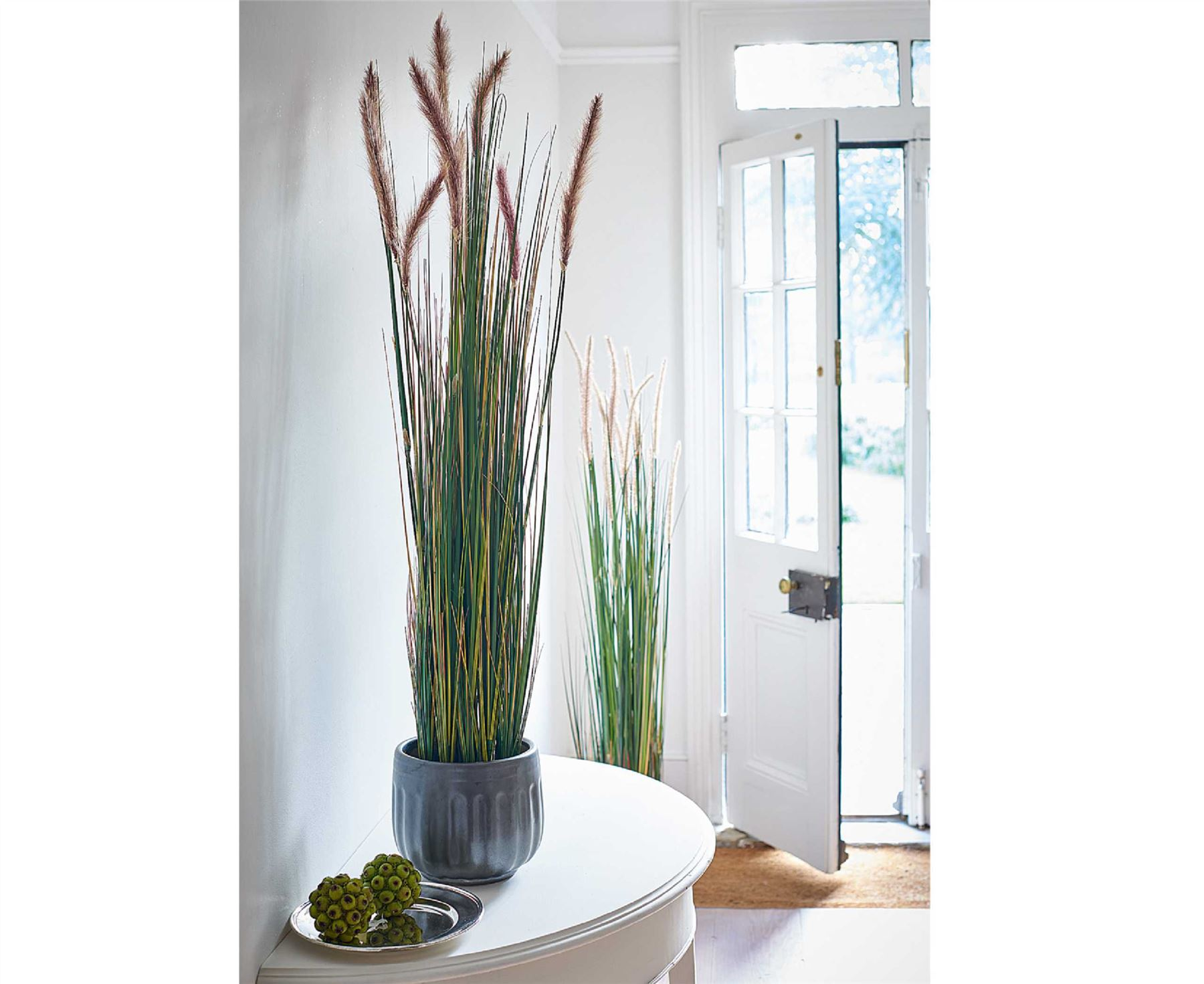 Bloom 5ft potted grass tall 150cm artificial plant home for Tall grass decor
