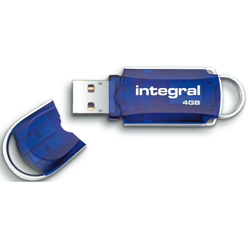 integral courier flash drive with led light usb 2 0 read 12mb s write 3mb s 4gb ebay. Black Bedroom Furniture Sets. Home Design Ideas