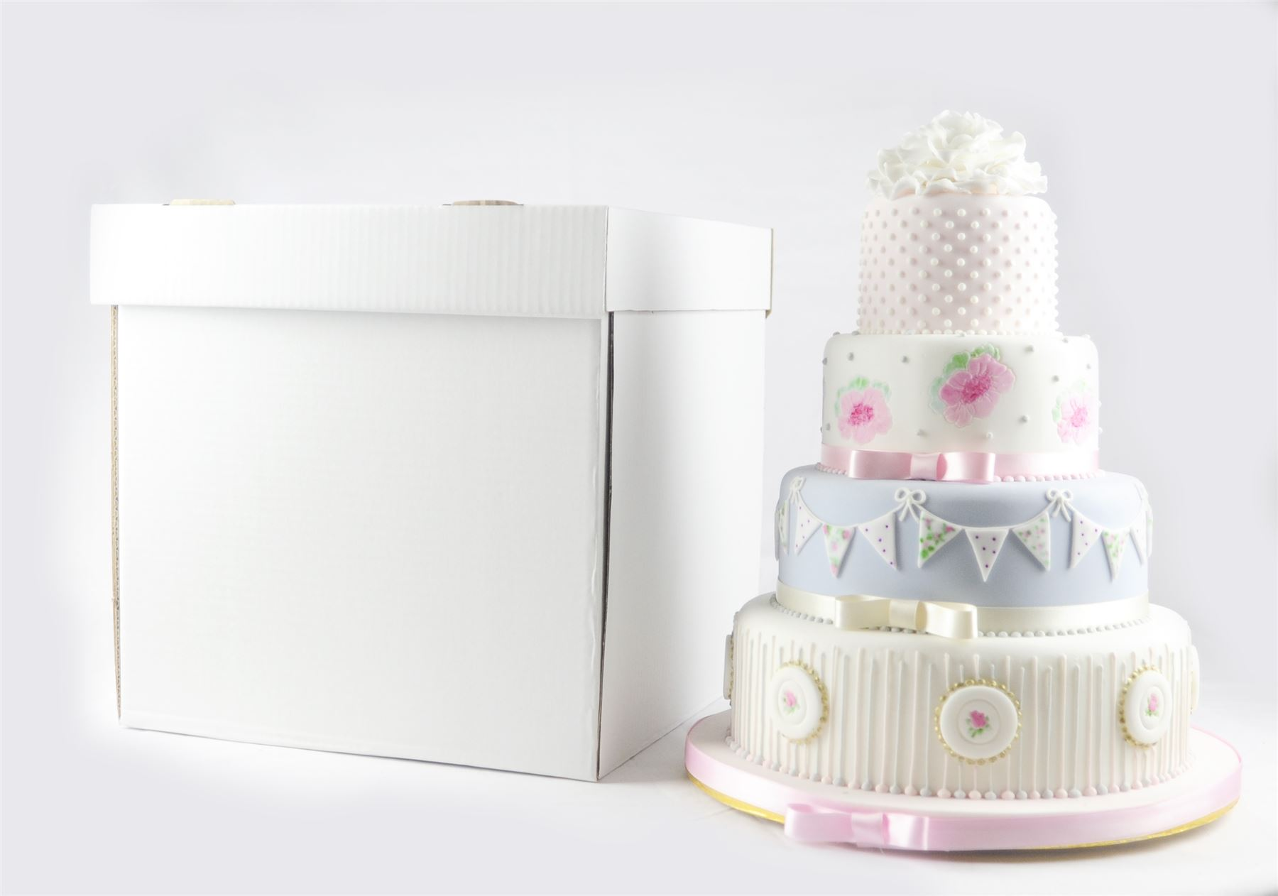 """Heavy Duty Corrugated Cube Cake Boxes 20"""" For Tall"""