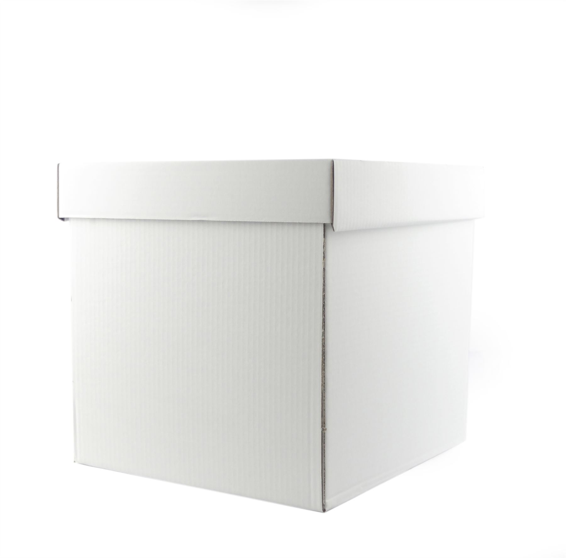heavy duty corrugated cube cake boxes 8 20 tall stacked cakes ebay. Black Bedroom Furniture Sets. Home Design Ideas