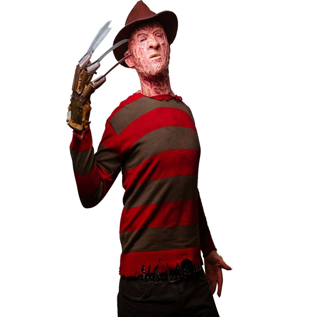 halloween fancy dress mask party costume freddy krueger jumper t