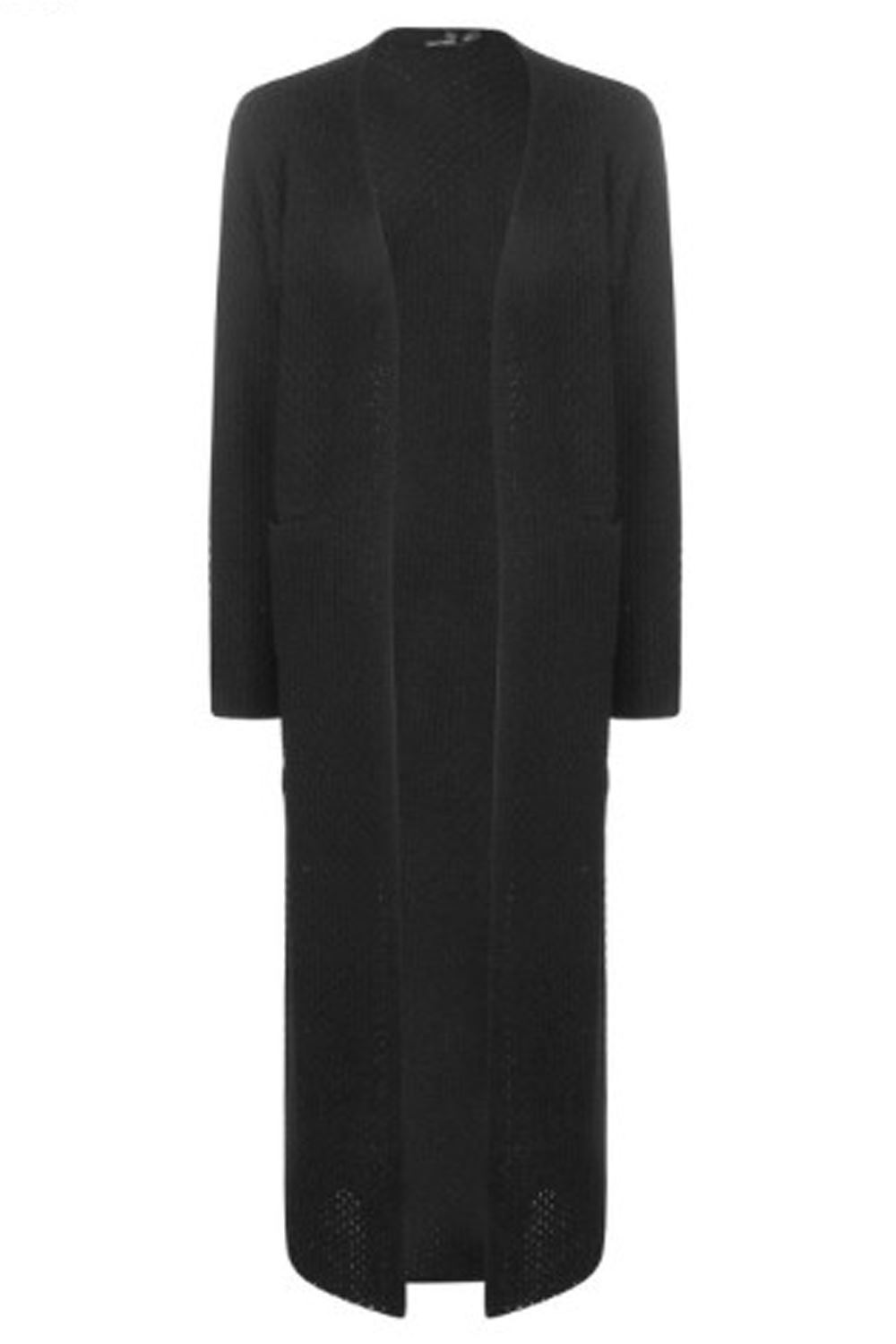 New Maxi Cardigan Ladies Womens Side Slit Cardigan Long Open ...