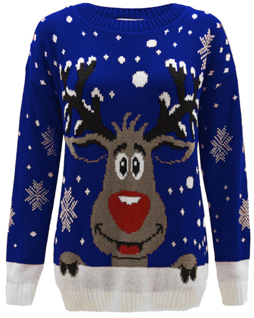 kids jumper christmas xmas girls sweater boys childrens. Black Bedroom Furniture Sets. Home Design Ideas