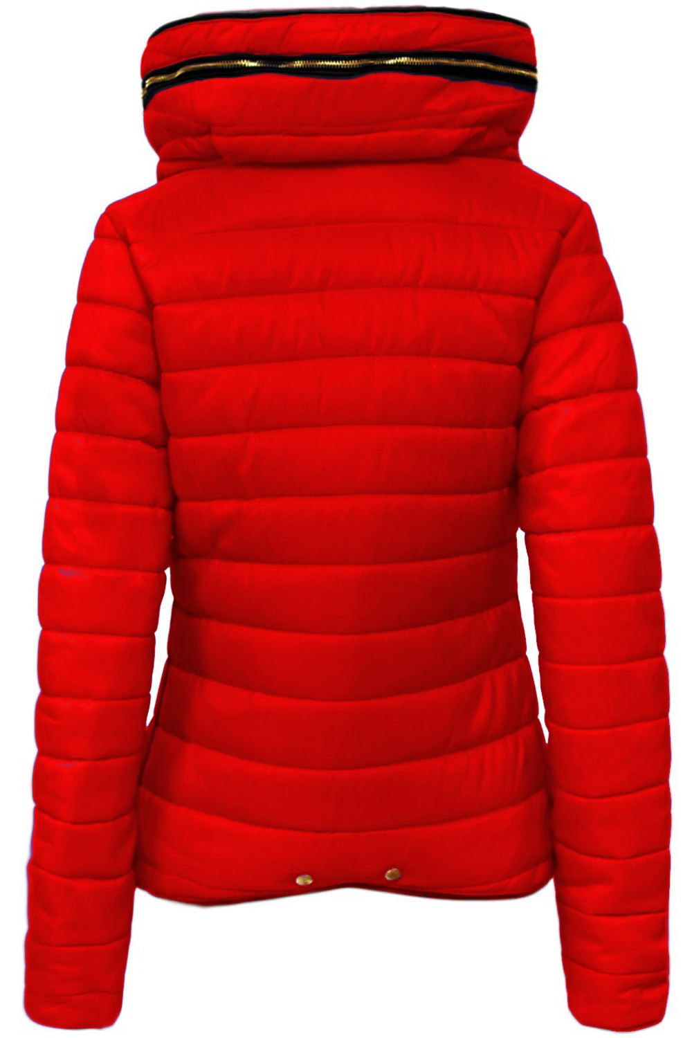 Ladies Womens Padded Zip Up Puffer Parka Bubble Jacket