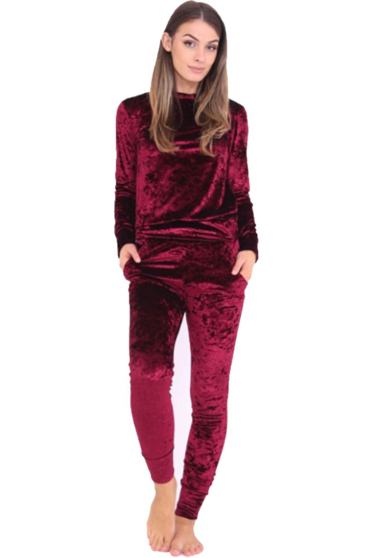 New New Womens Ladies Loungewear Set Sweatshirt Joggers Fine Knit Tracksuit Pants | EBay