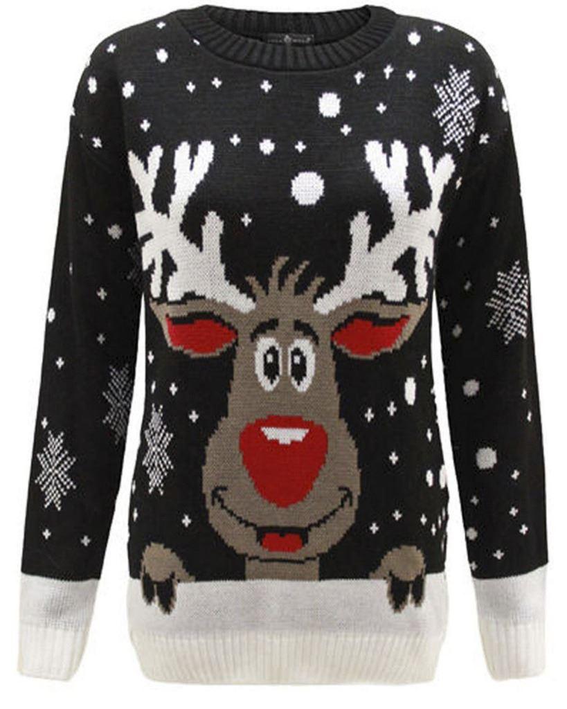 kids jumper christmas xmas sweater girls boys childrens. Black Bedroom Furniture Sets. Home Design Ideas