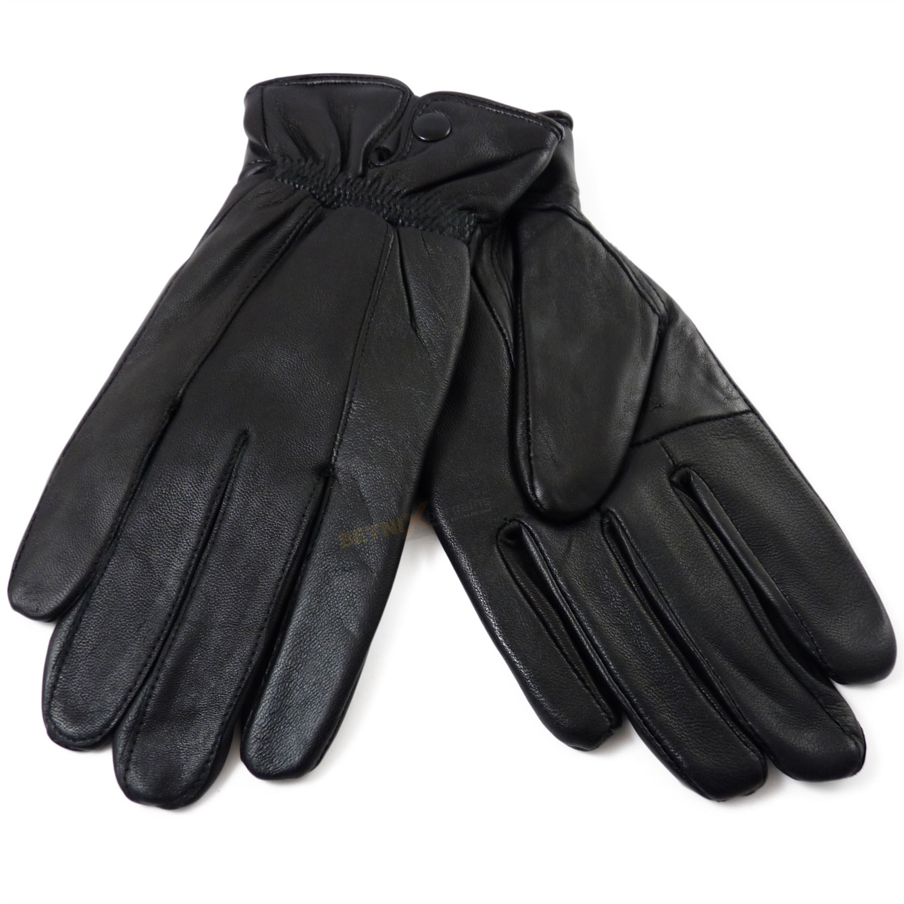 Ladies real leather gloves - Ladies Real Leather Gloves With Button Cuff Quality