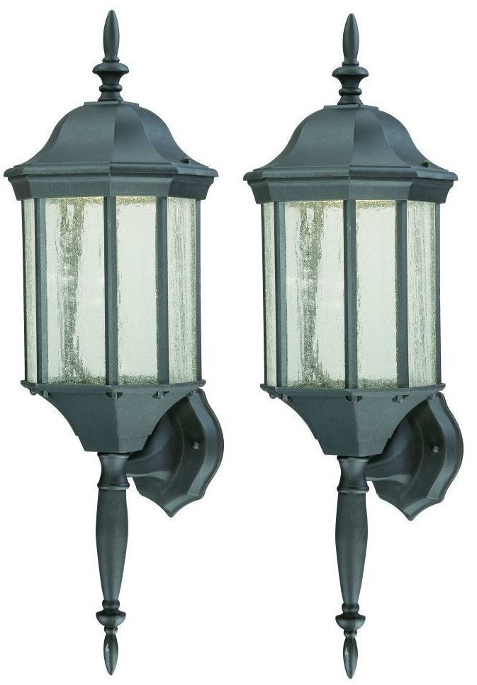 2 Pack Traditional Outdoor Wall Lantern Led Light Fixture