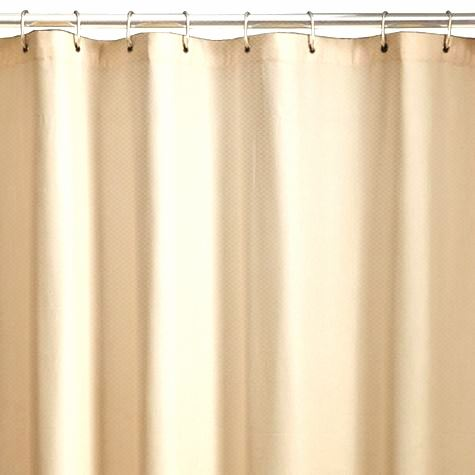 Home Designs 72 Heavy Duty Cream Pebbled Vinyl Hotel Stall Size Shower Curtain Ebay