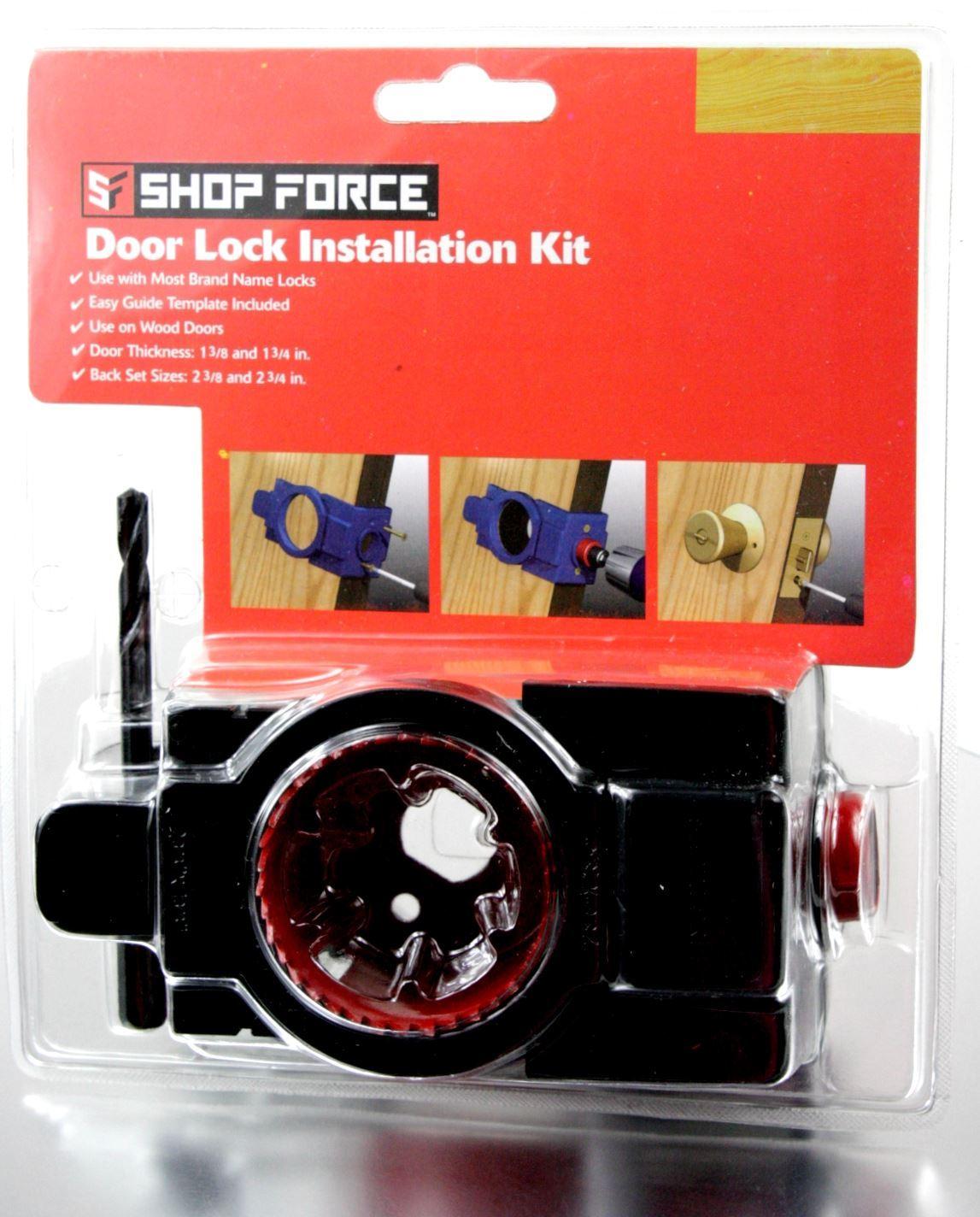 Wood Door Lock Installation Kit : Pack shop force door lock installation kit for solid