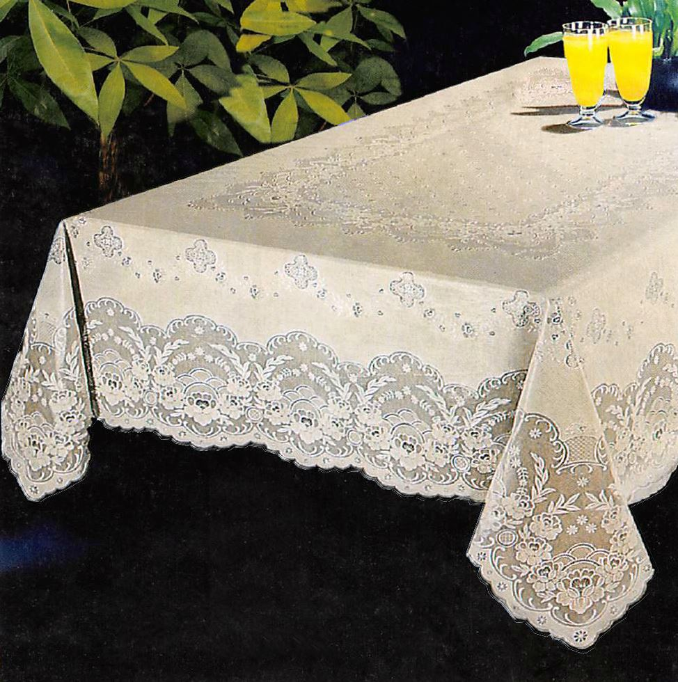 luxury lace vinyl tablecloth 52 x 70 90 104 oblong