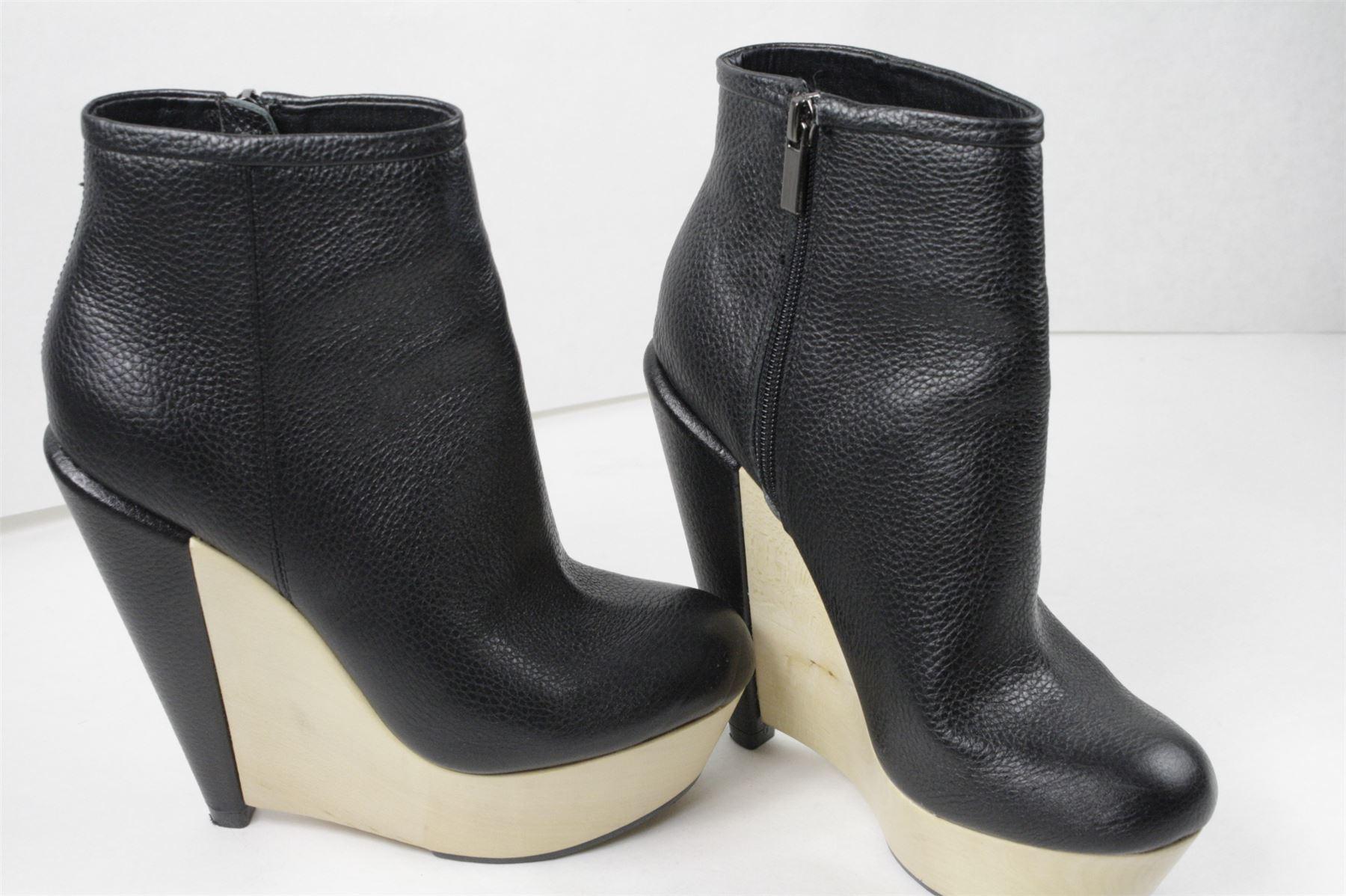 kelsi dagger black suede acalia platform wedge ankle boots