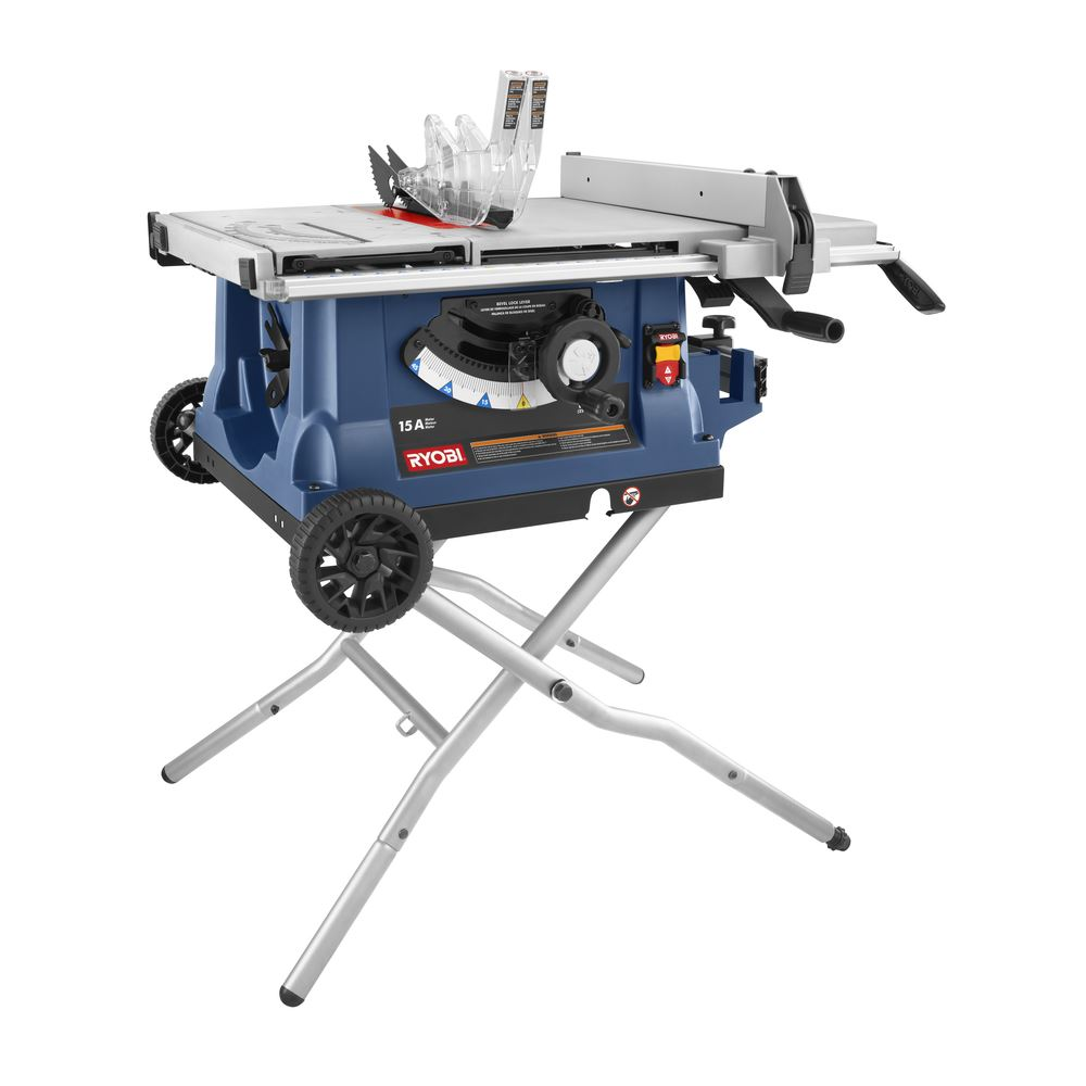 ryobi zrrts31 10 table saw with wheeled stand ebay