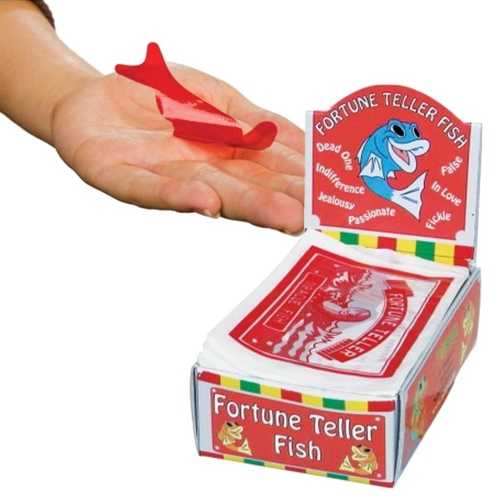 Fortune telling fish party bag christmas stocking for Fortune teller fish