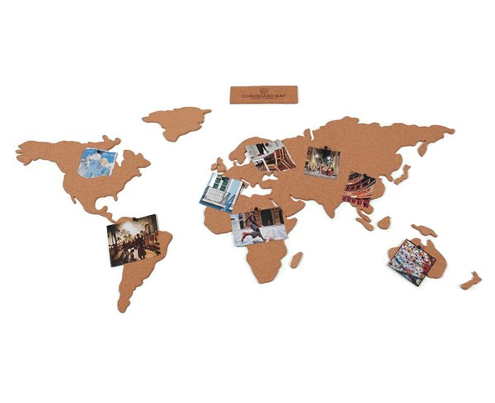 Cork Board Map World Atlas With Pins Travel Gift Set Notice Board eBay
