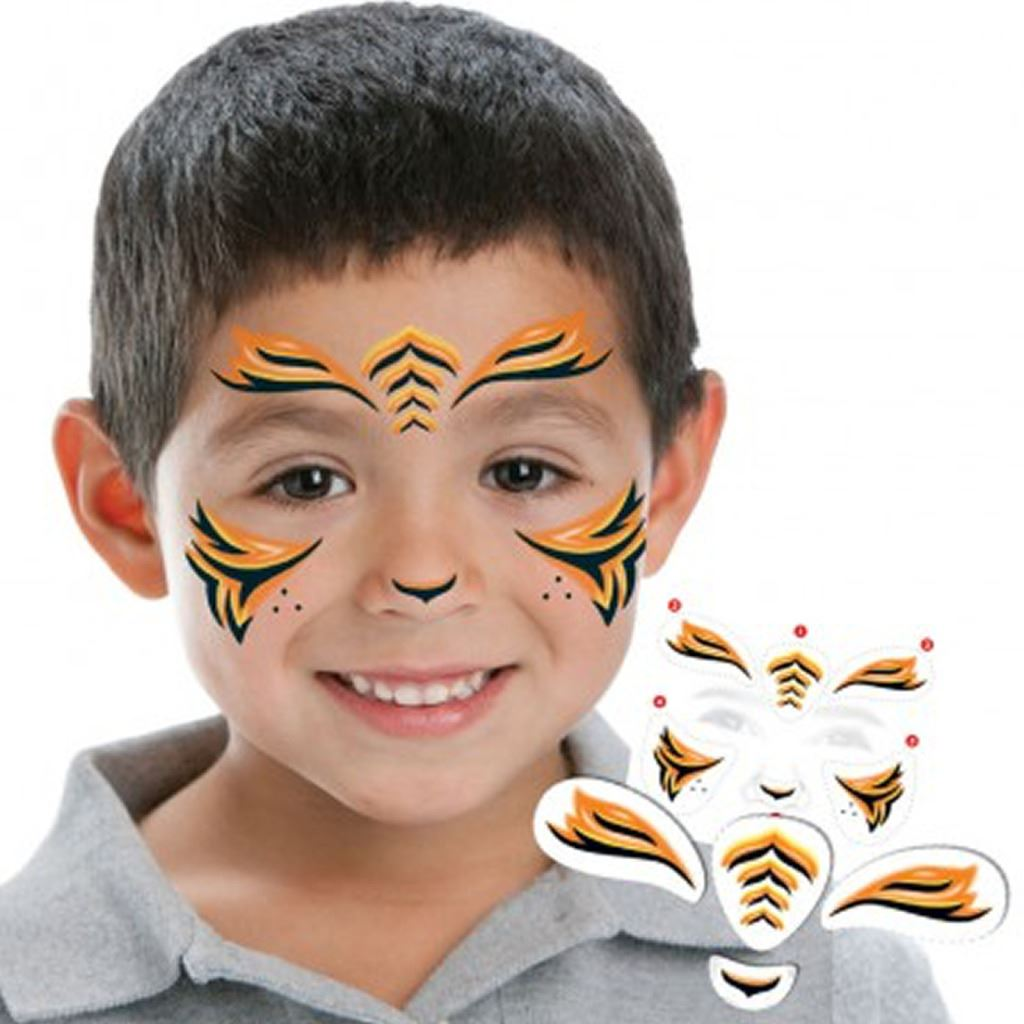 Childrens fun face temporary tattoos birthday loot party for Temporary tattoos kids