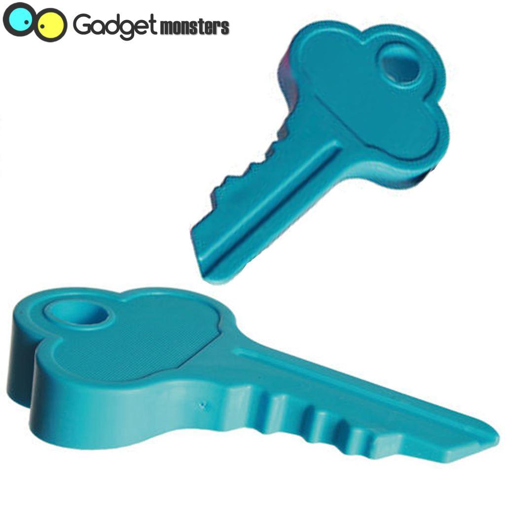 Key shaped door stopper wedge rubber doorstop jam novelty durable fun gadget - Novelty doorstop ...
