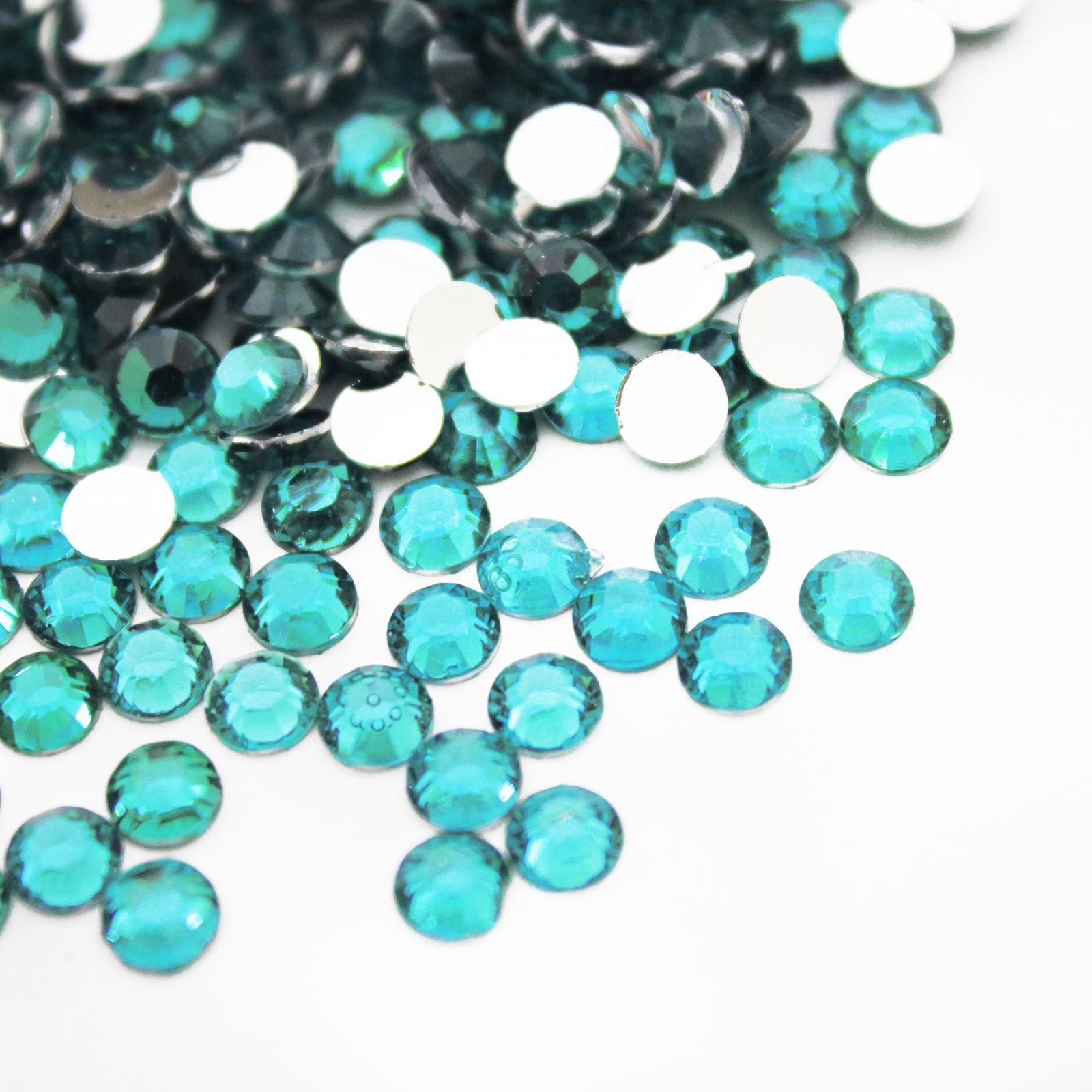 1000 Flat Back Rhinestones Acrylic Gems Diamante Crystals 2mm 3mm 4mm 5mm