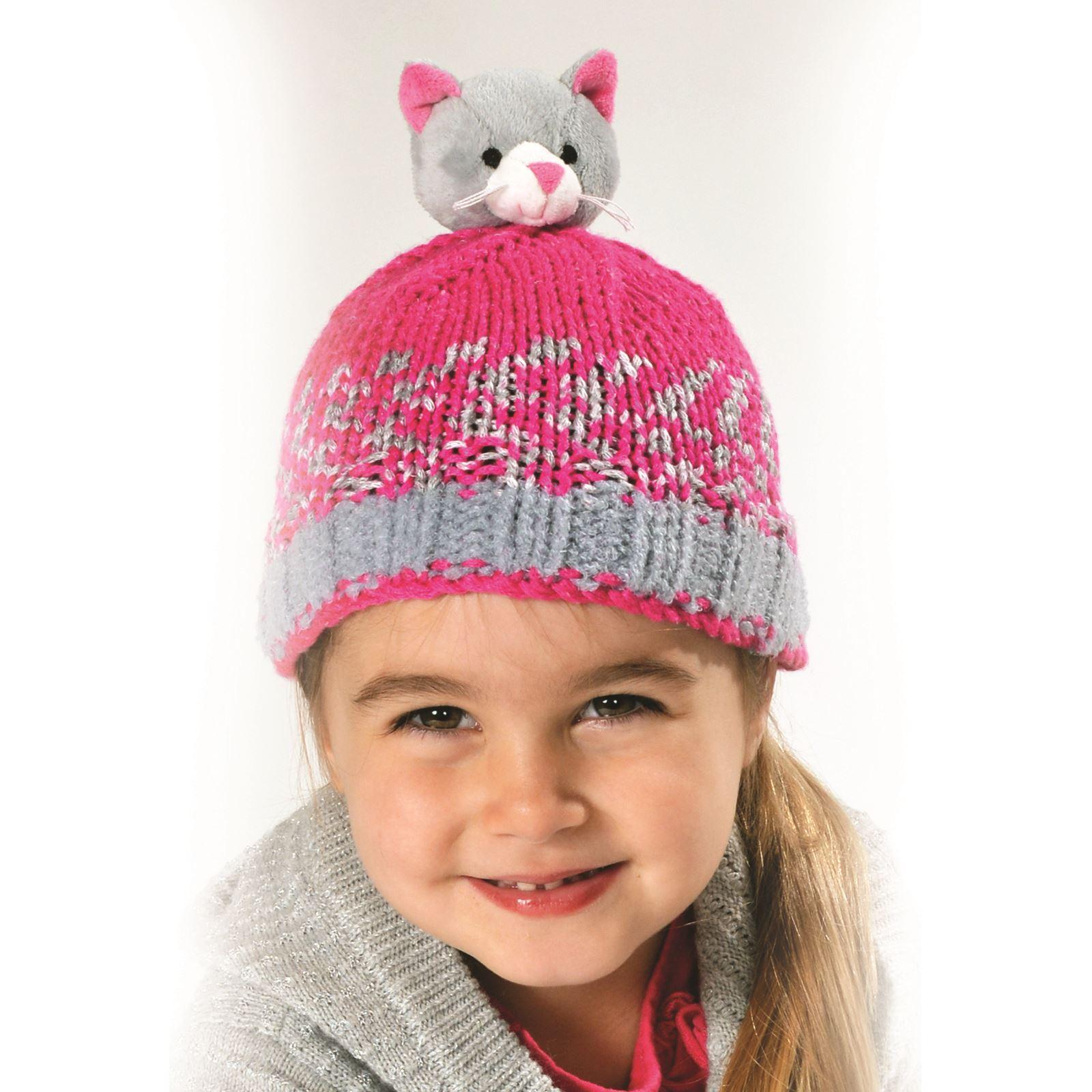DMC Top This! Kids Hat Knitting Kits Characters Christmas Wool eBay