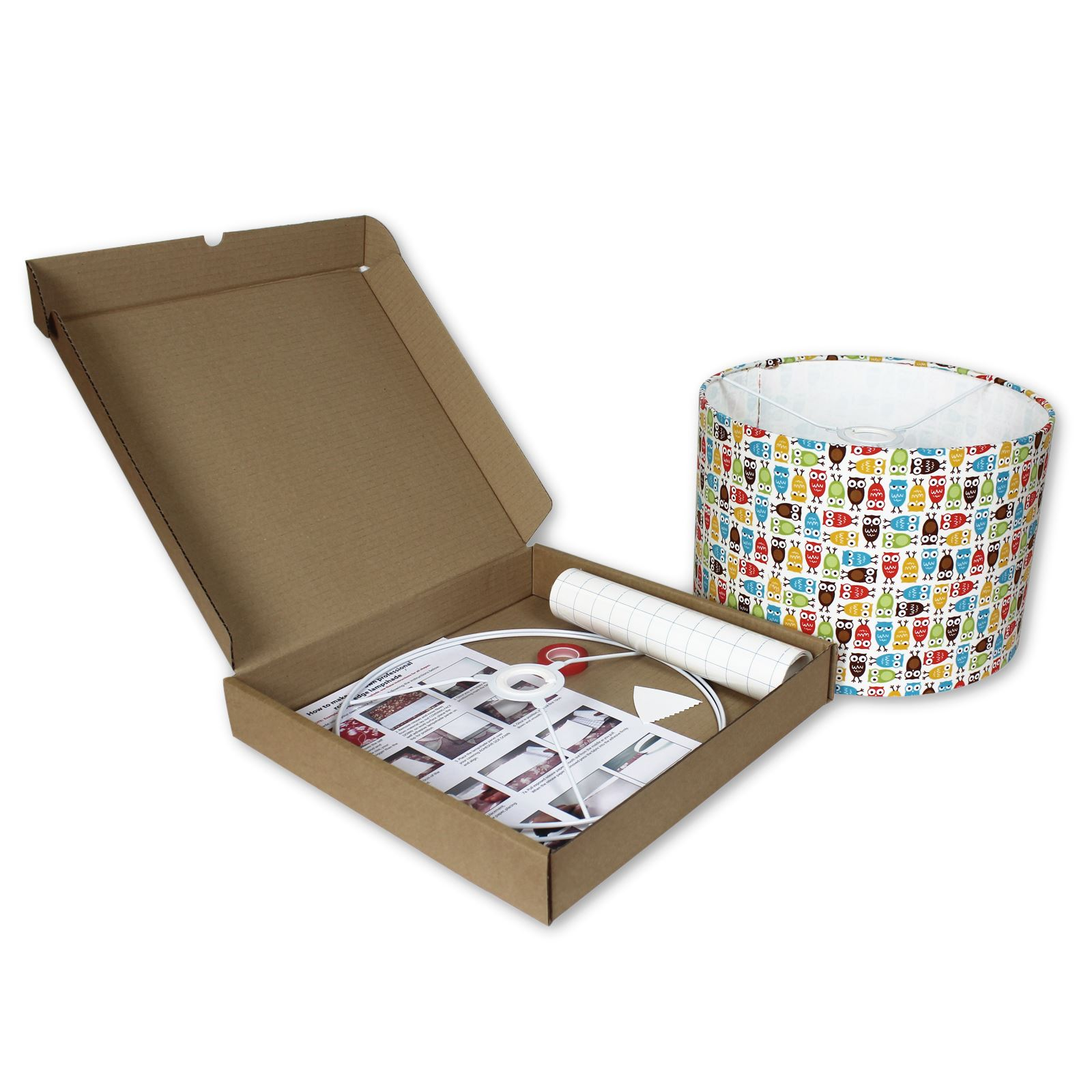 Lampshade Kits Make Your Own Lampshade 30cm Diameter Drum EBay