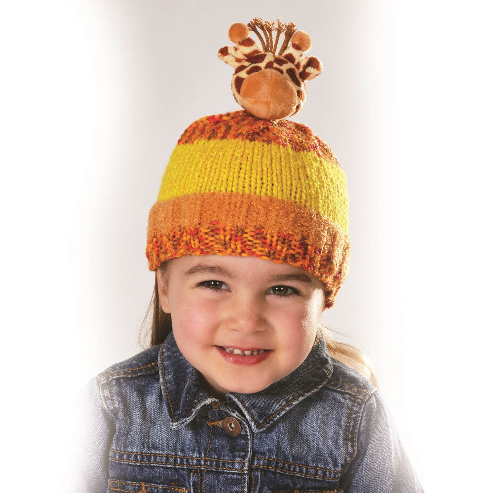 DMC Top This! Kids Hat Knitting Kits Characters Christmas Wool