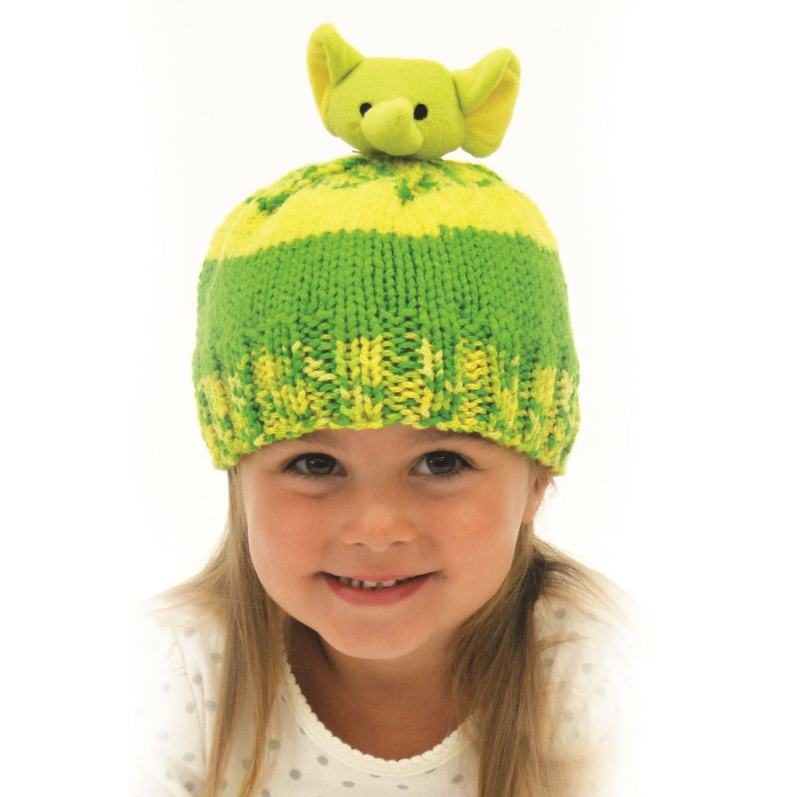 Knitting Patterns For Childrens Characters : DMC Top This! Kids Hat Knitting Kits Characters Christmas ...