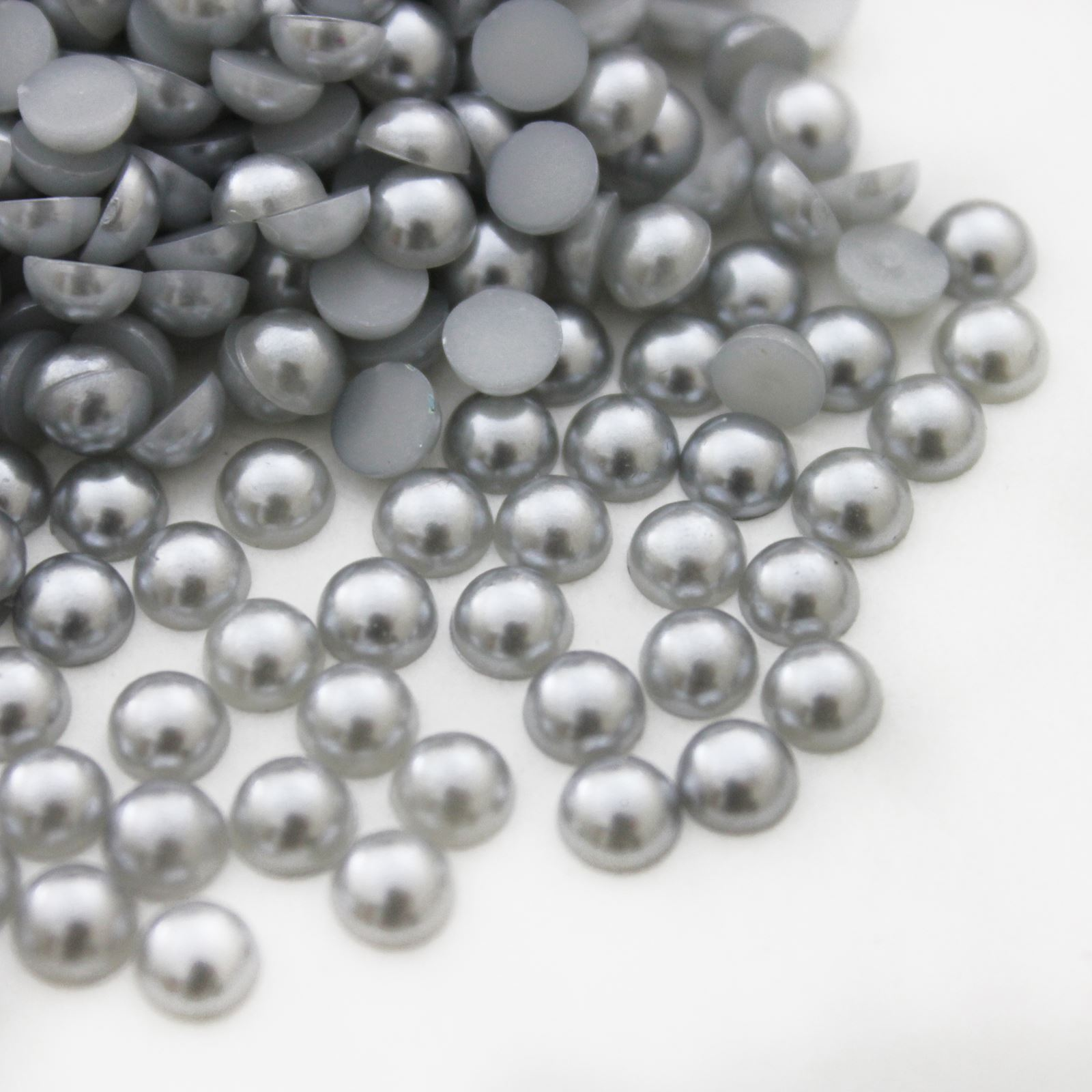 1000 HALF ROUND PEARLS - FLAT BACK - HIGH QUALITY - CRAFTS - 2MM, 3MM, 4MM, 5MM