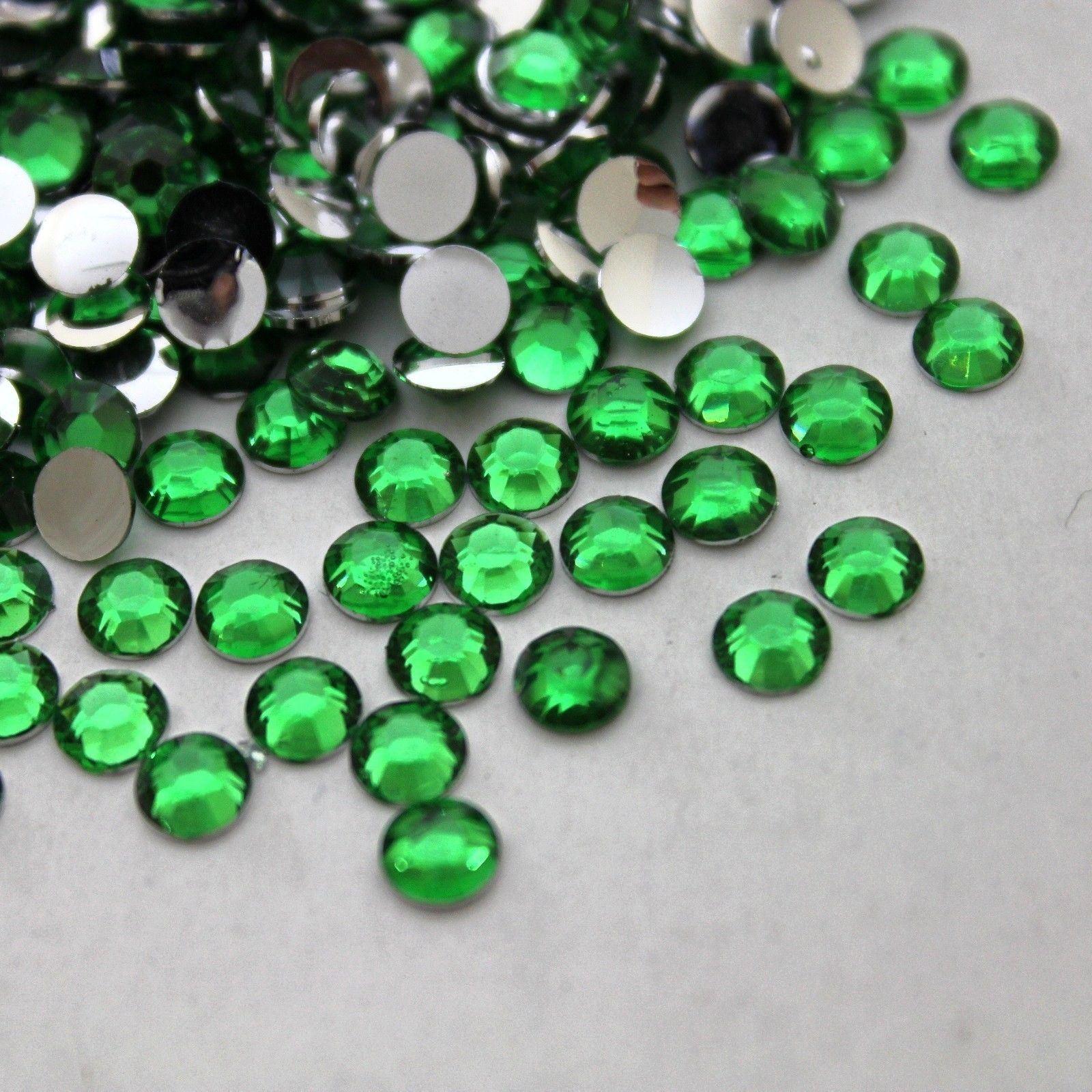 1000 Gemas diamante imitación resina parte posterior plana cristal 2 ...