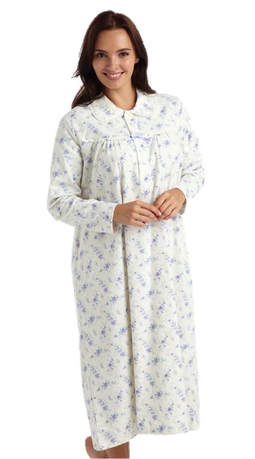 camicia da notte donna flanella misura 44 46 48 50 52 54 ebay. Black Bedroom Furniture Sets. Home Design Ideas