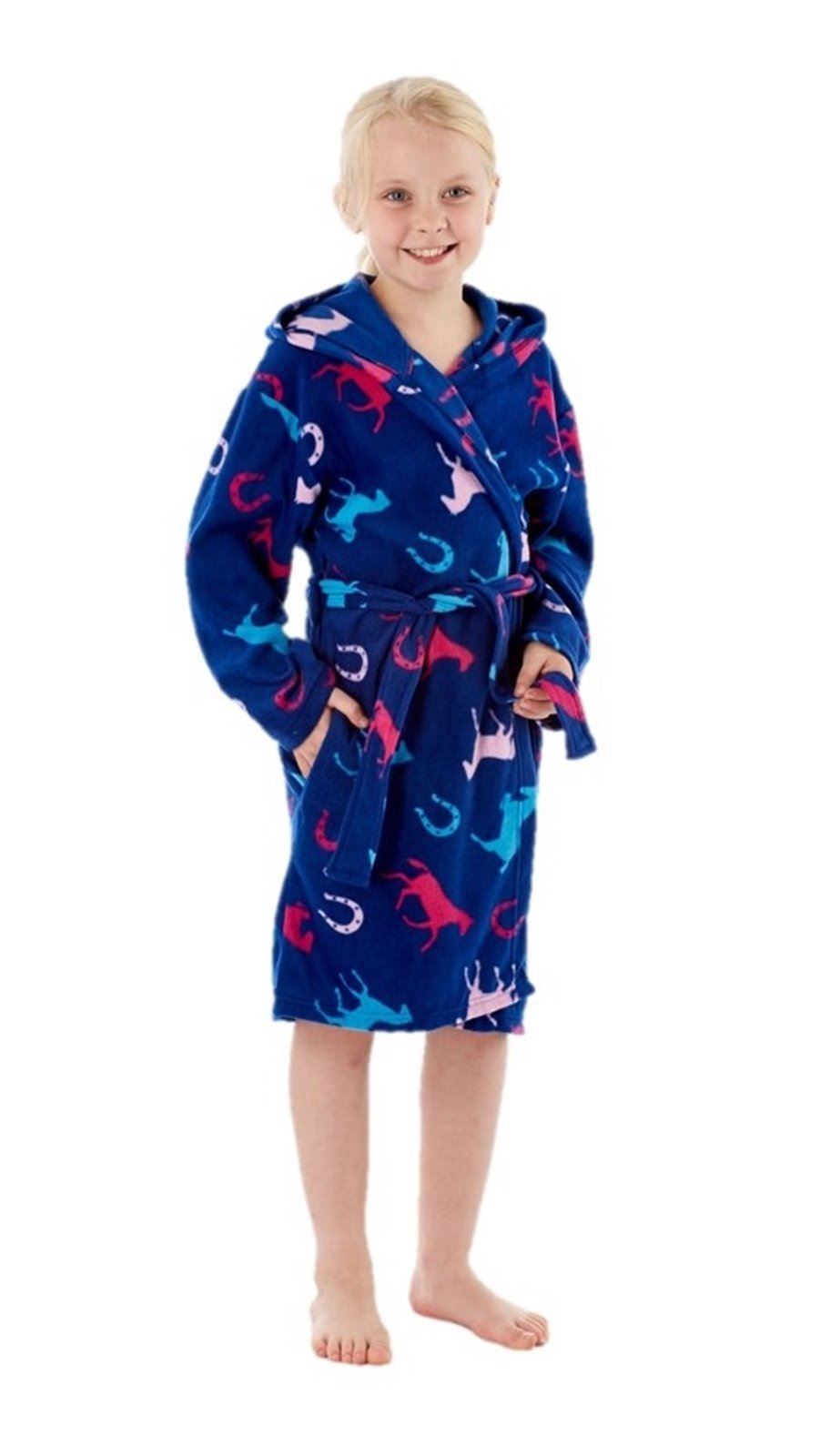 filles cheval peignoir polaire robe de chambre ge 7 8 9. Black Bedroom Furniture Sets. Home Design Ideas
