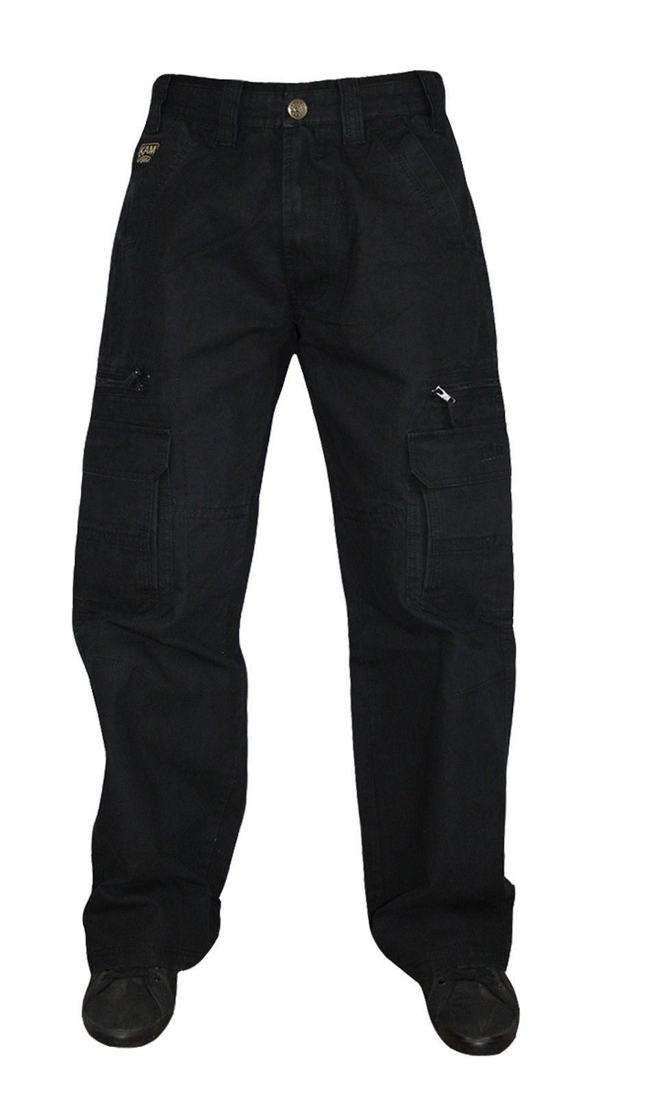 Carhartt relaxed fit pants are a classic rise that sit at the natural waist. A relaxed seat and thigh provide a little more room than traditional fit would and straight leg openings fit over work boots. Classic rise and tapered leg openings are available.