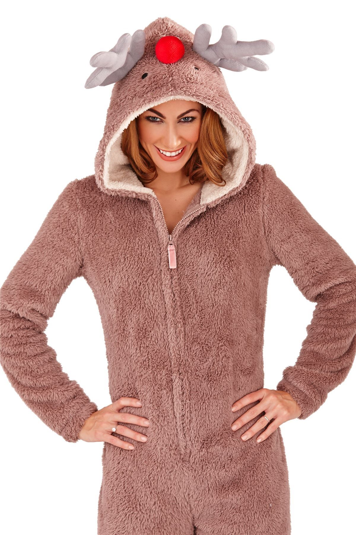 Women's Natural Reindeer Novelty Fluffy Onesie See more TOPSHOP Nightwear. Subscribe to the latest from TOPSHOP. Find on store. Fluffy beige novelty reindeer onesie with antlers and reindeer face embroidery on hood % polyester. Machine washable. Colour: natural Gallery.