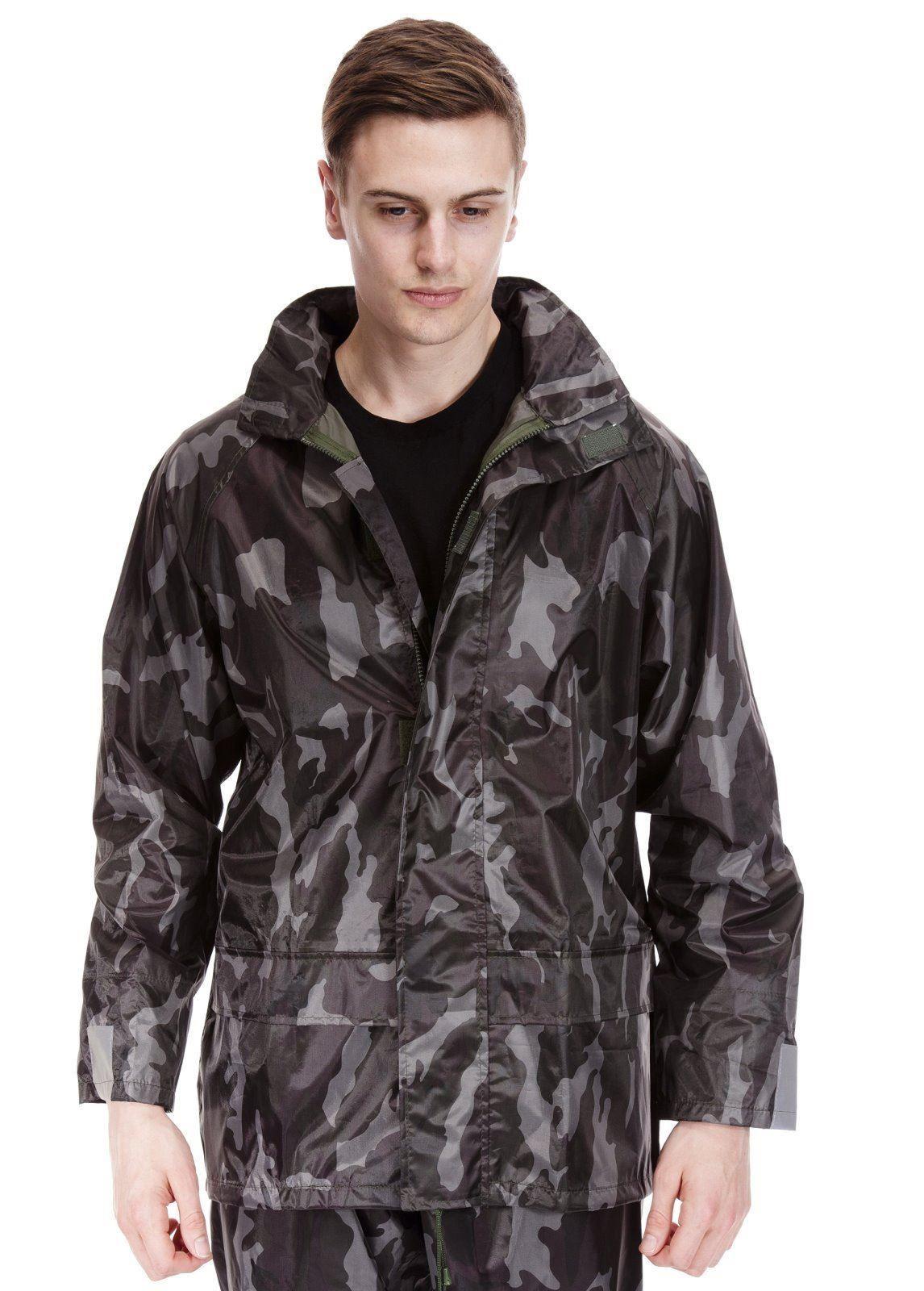 homme veste manteau imperm able coupe vent camo camouflage chasseurs p che ebay. Black Bedroom Furniture Sets. Home Design Ideas