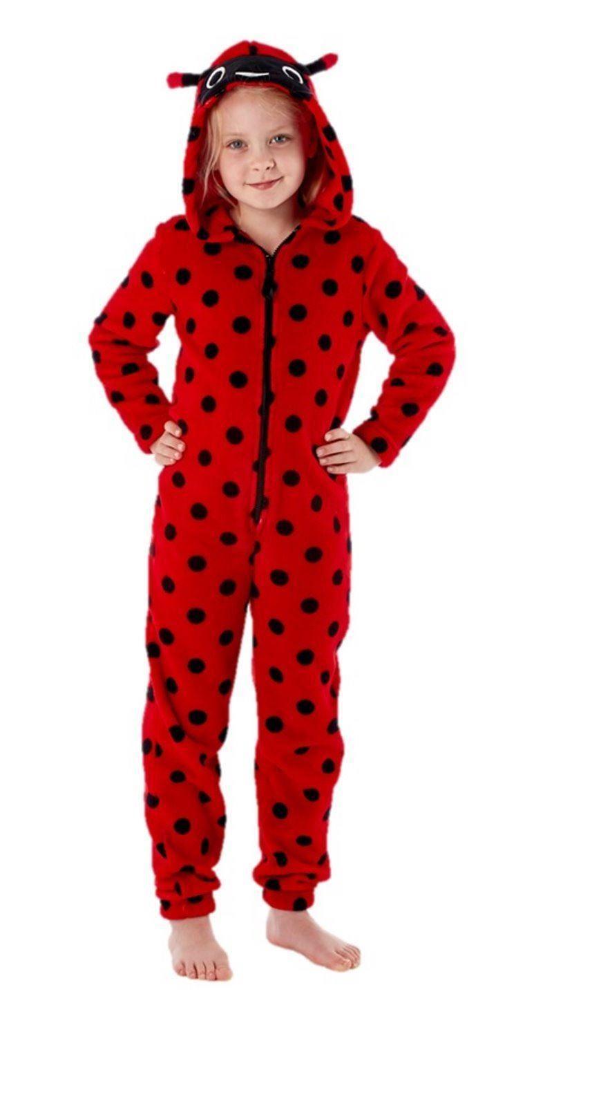 combinaison pyjama polaire capuche fille coccinelle. Black Bedroom Furniture Sets. Home Design Ideas