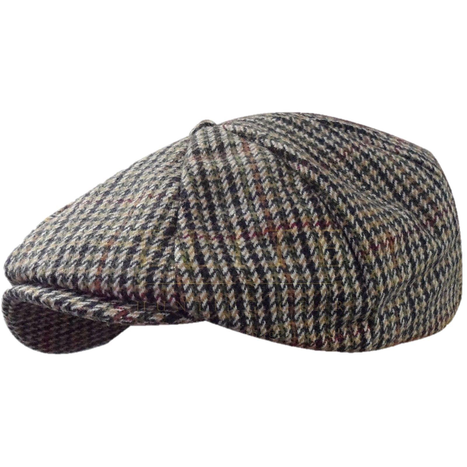 Tweed Hat Flat Cap Wool Country Gatsby Baker Boy 8 Panel Ebay