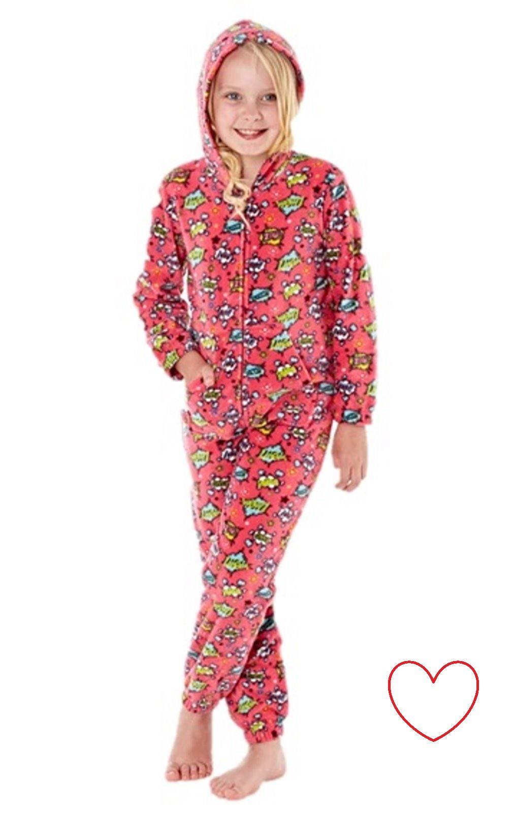 boys girls onesie fleece all in one pyjamas one piece pajama 7 8 9 10 11 12 13. Black Bedroom Furniture Sets. Home Design Ideas