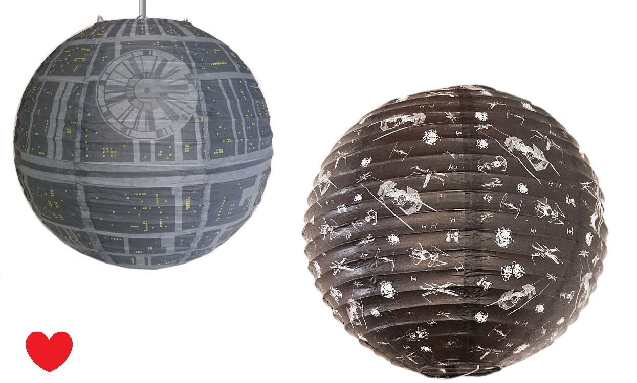 star wars death star light shade fighter fitting darth. Black Bedroom Furniture Sets. Home Design Ideas