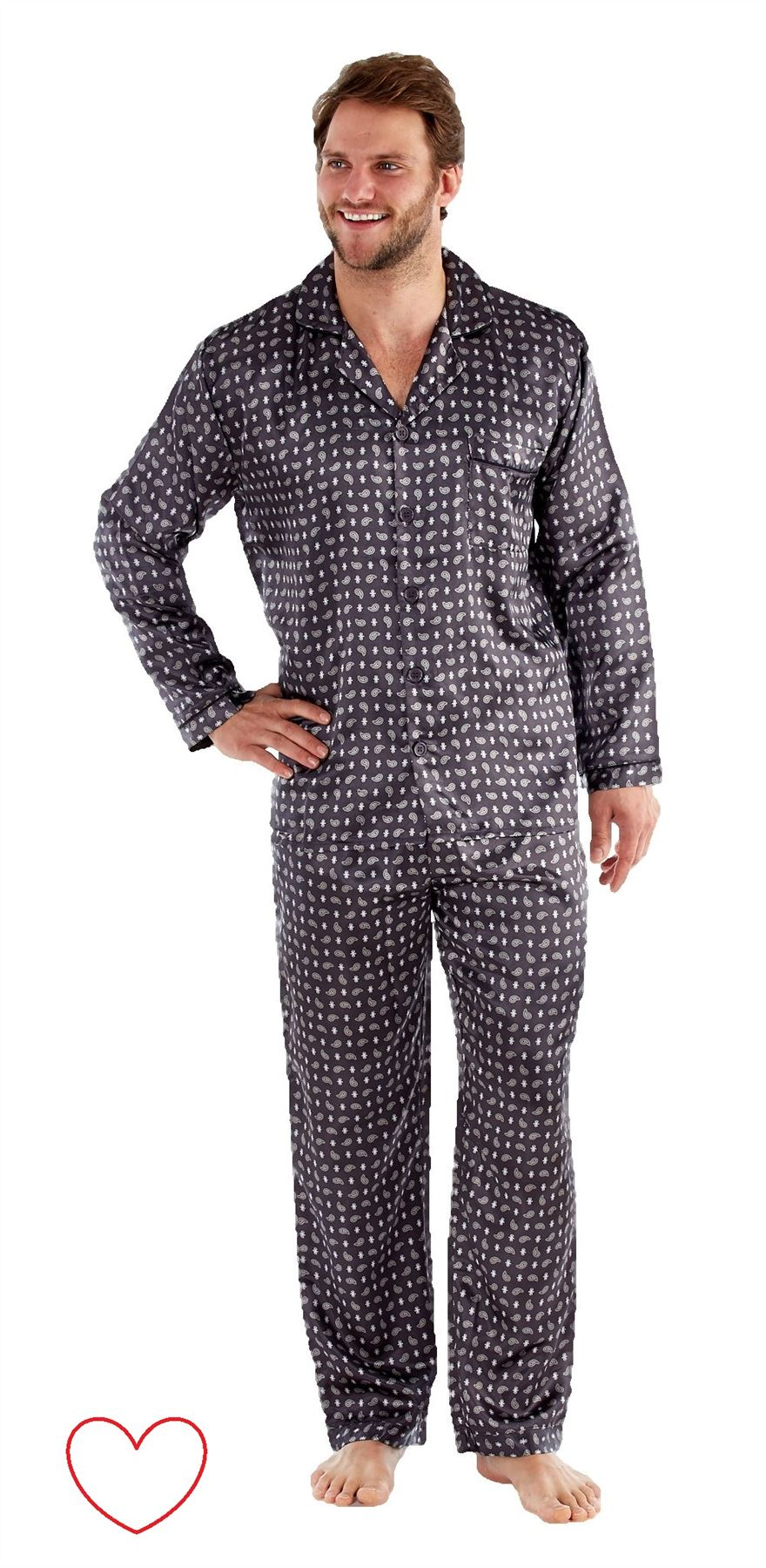Choose from the latest collection of loungewear for men and shop your favourite items on sale. your browser is not supported. To use ASOS, we recommend using the latest versions of Chrome, Firefox, Safari or Internet Explorer ASOS DESIGN straight pyjama bottoms in grey marl with white side stripe.