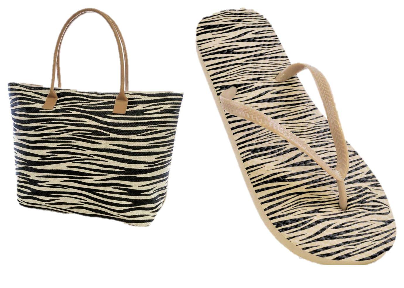 ladies girl flip flops sandal matching beach bag holiday   eBay