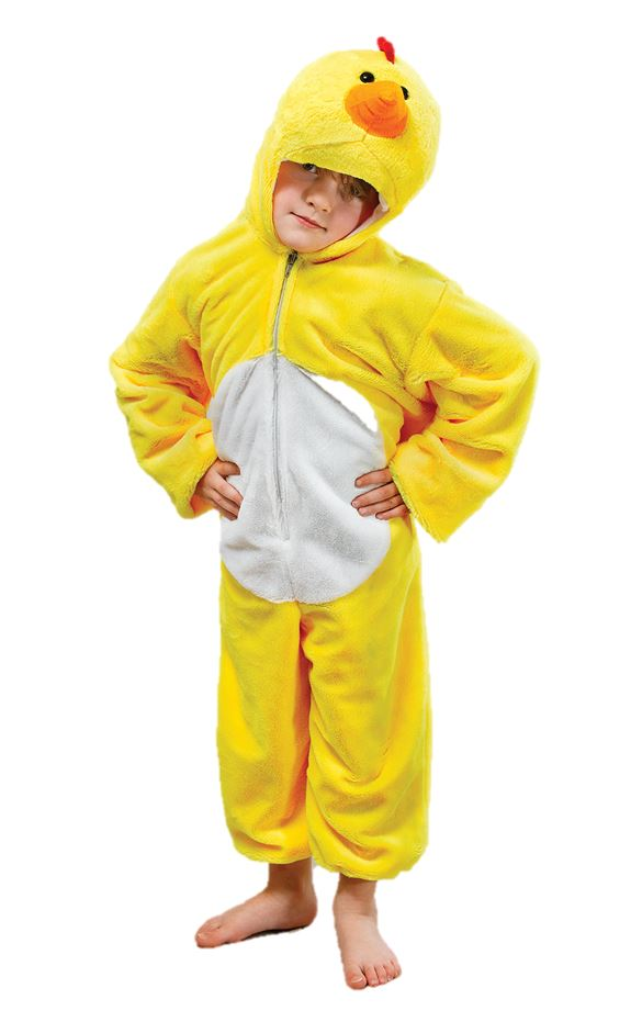 Disfraz de pollo para niños de felpa pollito edad 4 5 6 7 8 9