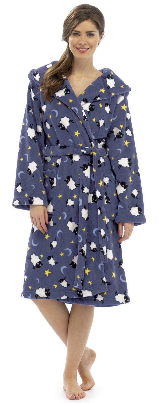 Robe de chambre femme polaire capuche peignoir animal - Robe de chambre femme polaire avec capuche ...