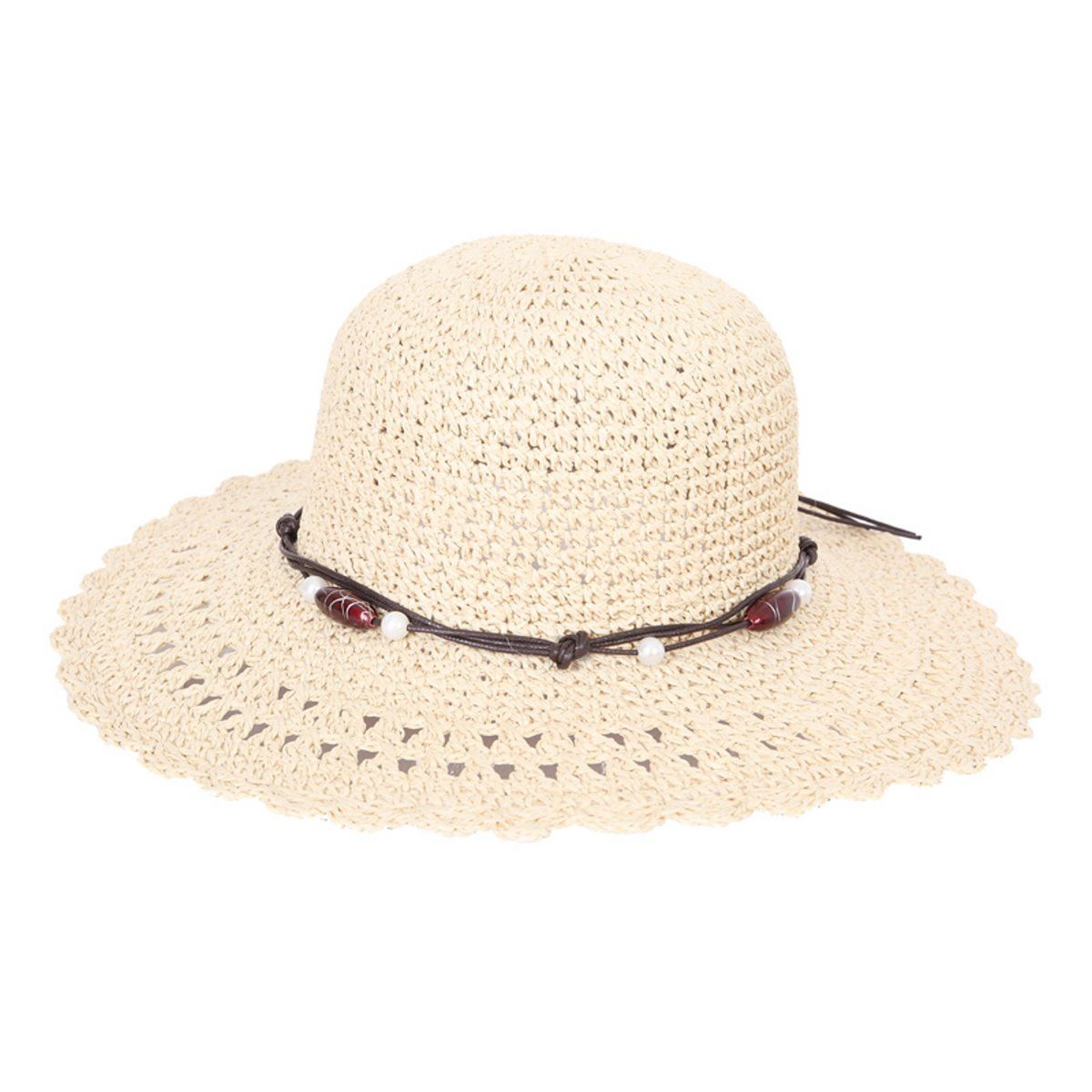 Ladies Crushable Hat Packable Summer Sun Holiday Floppy Straw Hat Bouces Back