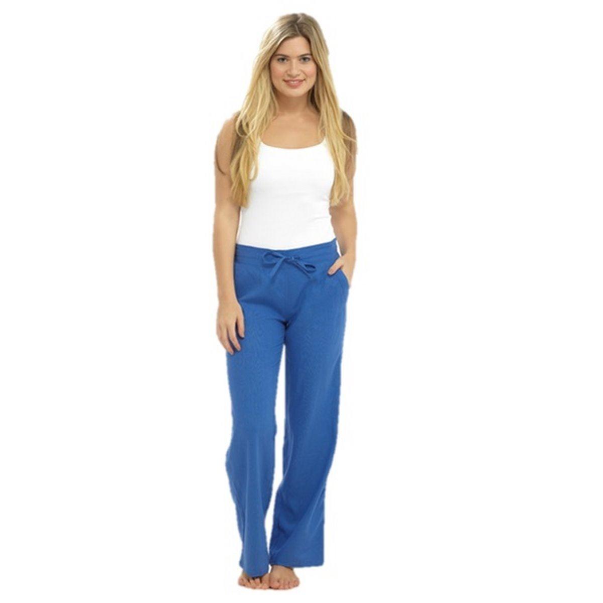 Fantastic Army Green Casual Linen Patchwork Pants Plus Size Women Crop Pants