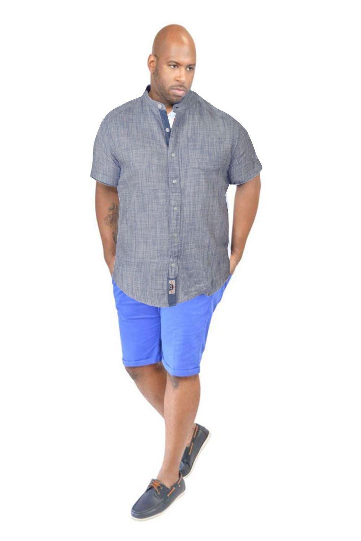 Mens shirt grandad king size big tall short sleeve for Mens tall dress shirts