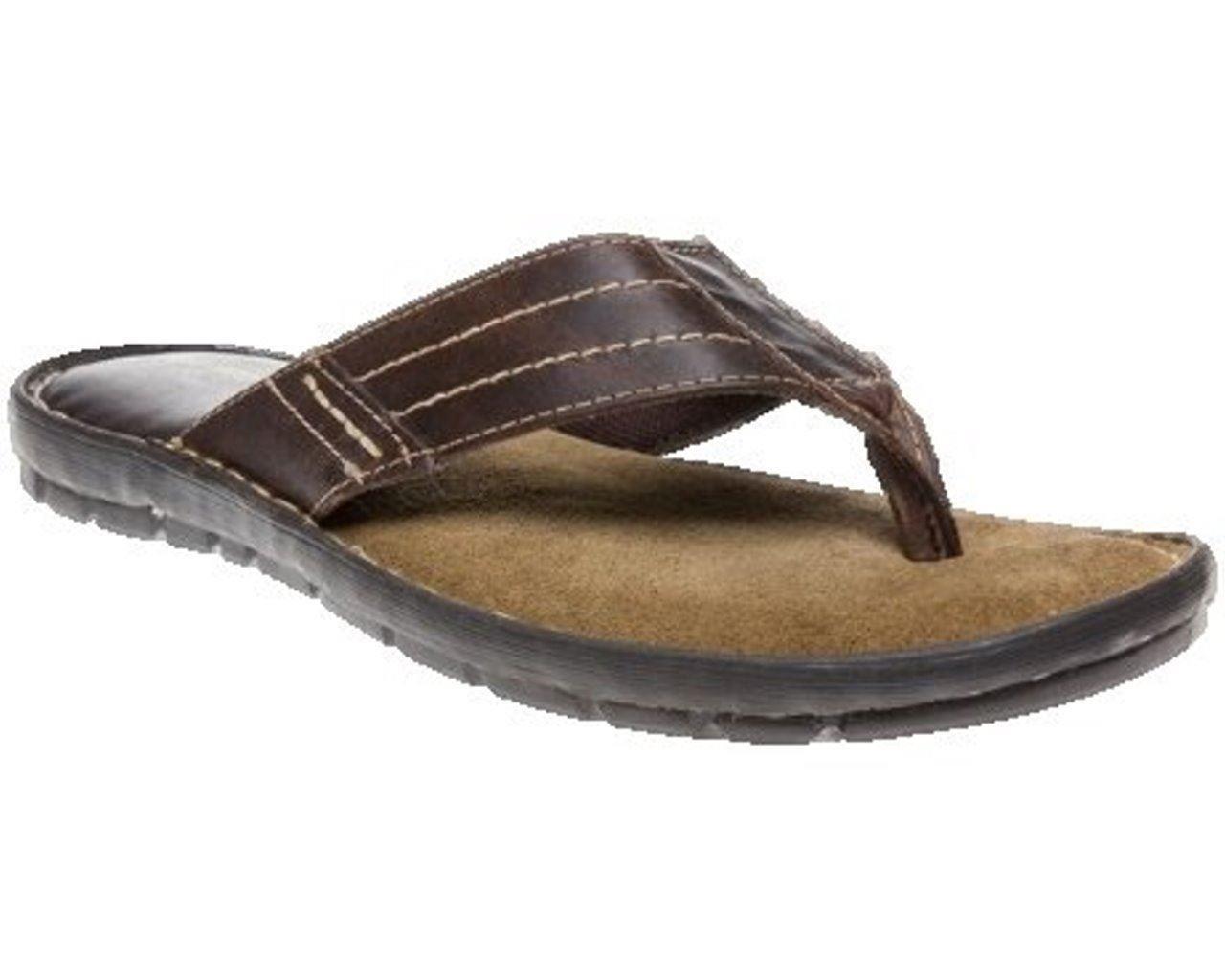 mens leather flip flop sandal shoe toe post size 7 8 9 10. Black Bedroom Furniture Sets. Home Design Ideas