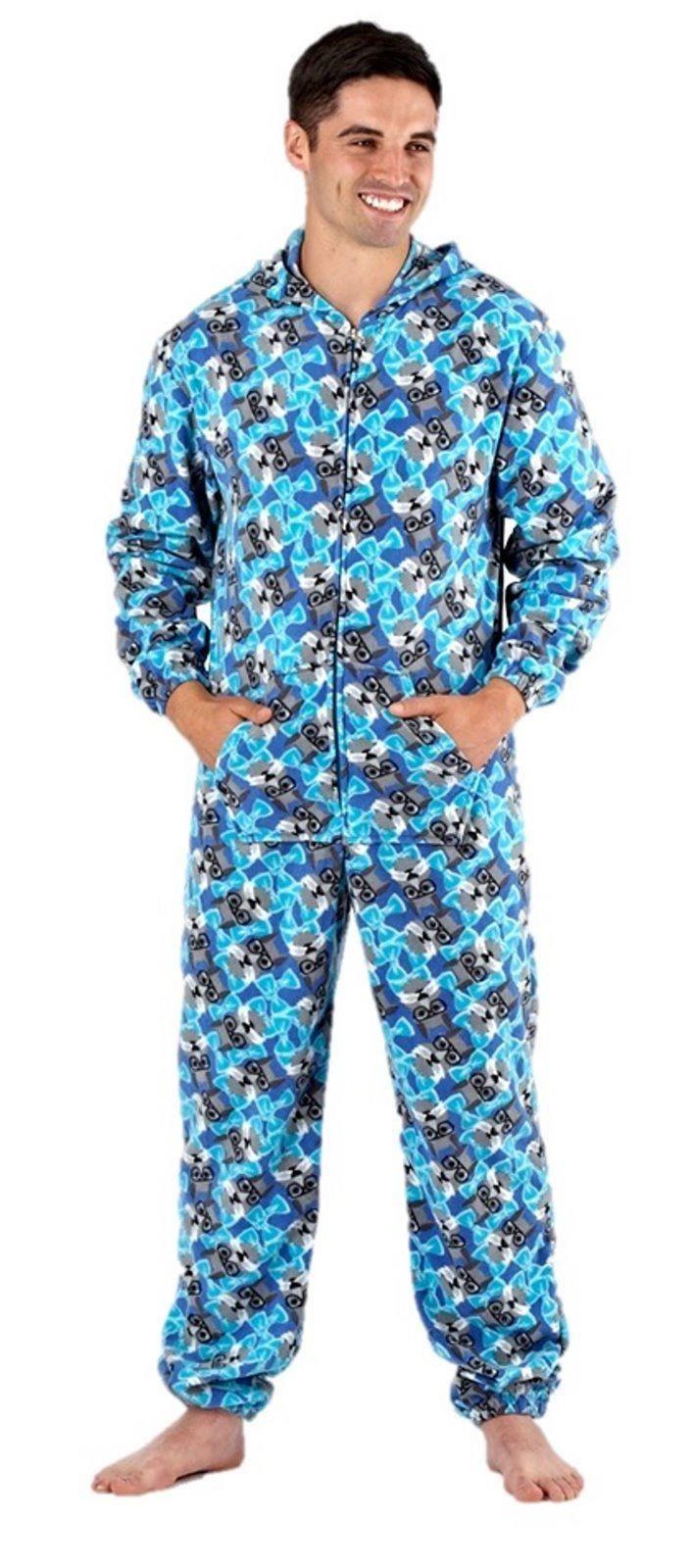 Homme pyjama combinaison polaire pyjamas tout en un barboteuse geek s m l ebay - Combinaison polaire homme ...