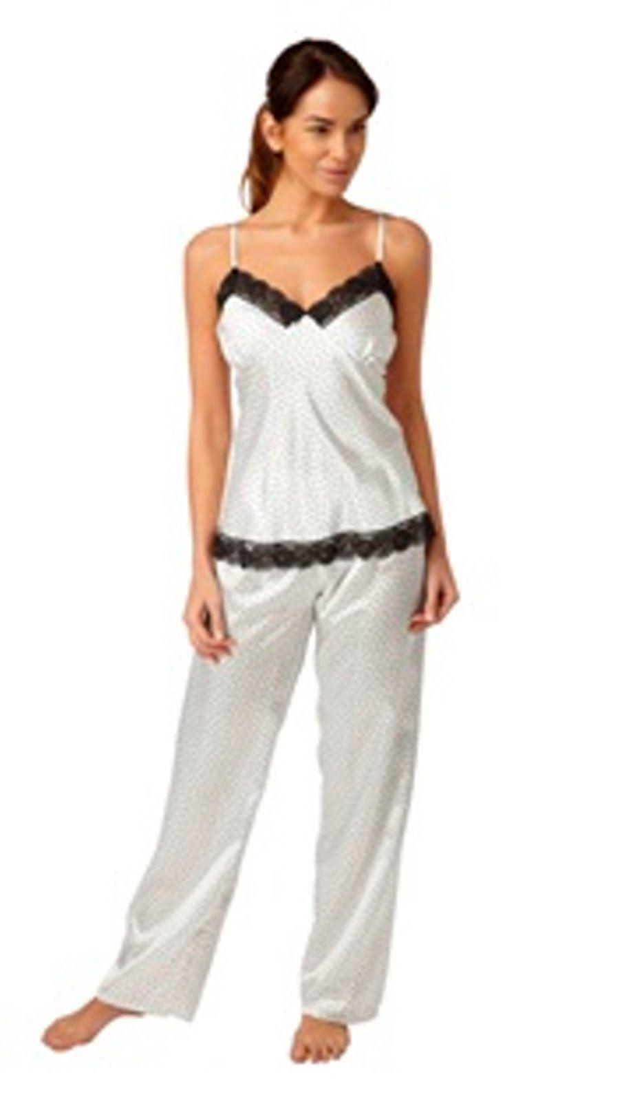 ladies womens satin pj set pyjamas pajama nightwear sleep size 10 12 14 16 18